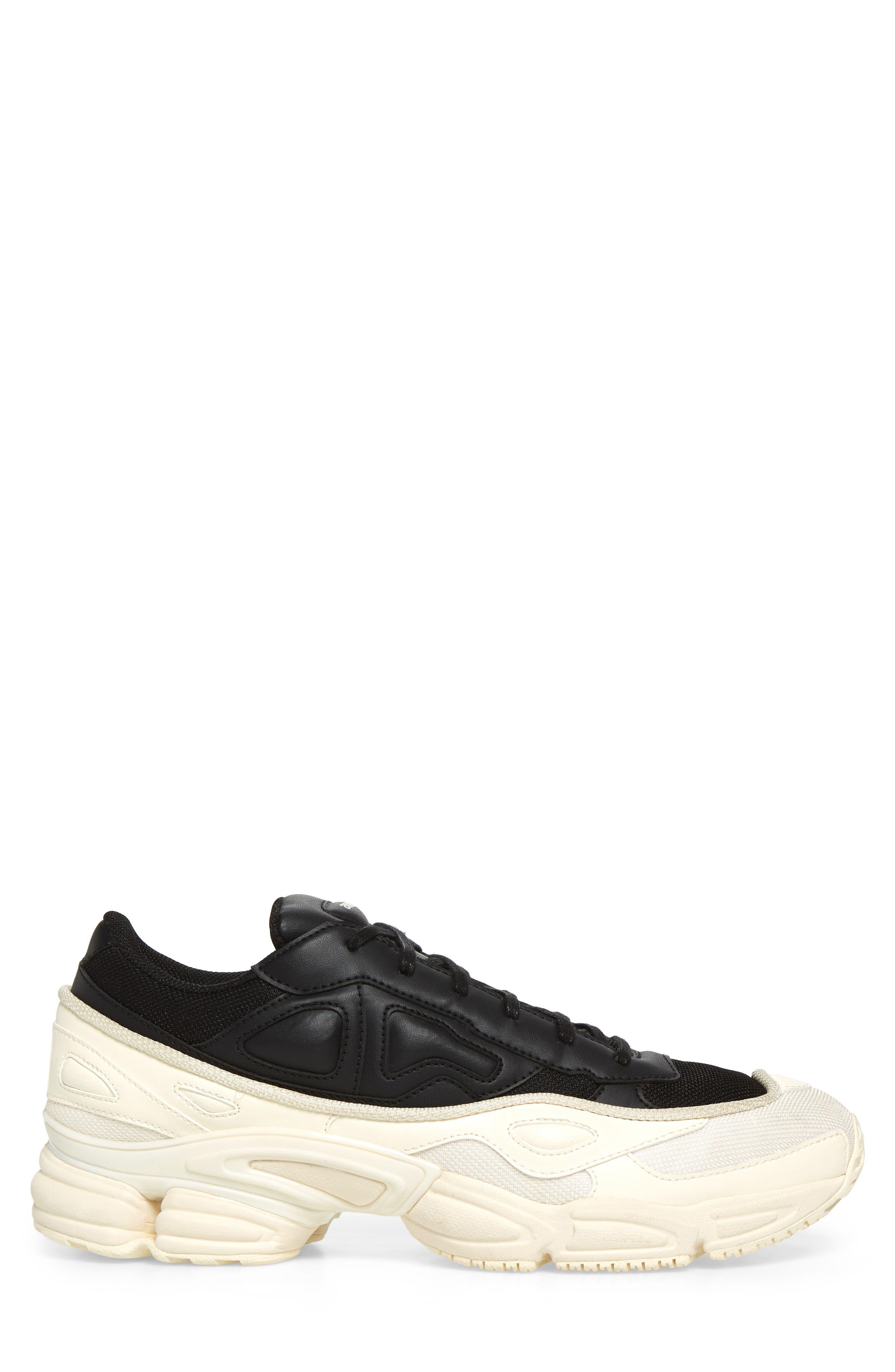 adidas by Raf Simons Ozweego III Sneaker,                             Alternate thumbnail 3, color,                             CREAM WHITE/ CORE BLACK
