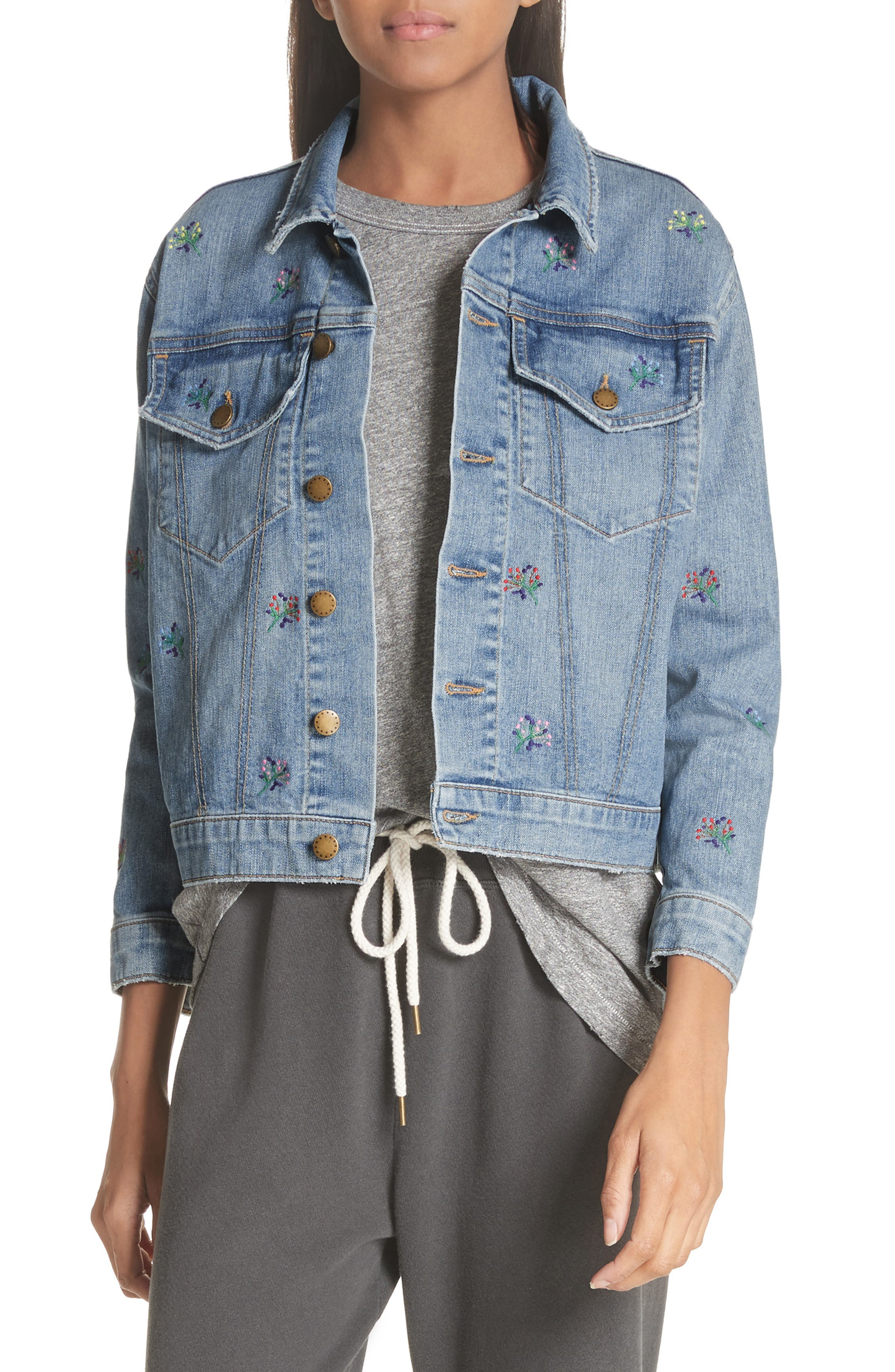 The Boxy Jean Jacket,                             Main thumbnail 1, color,                             400