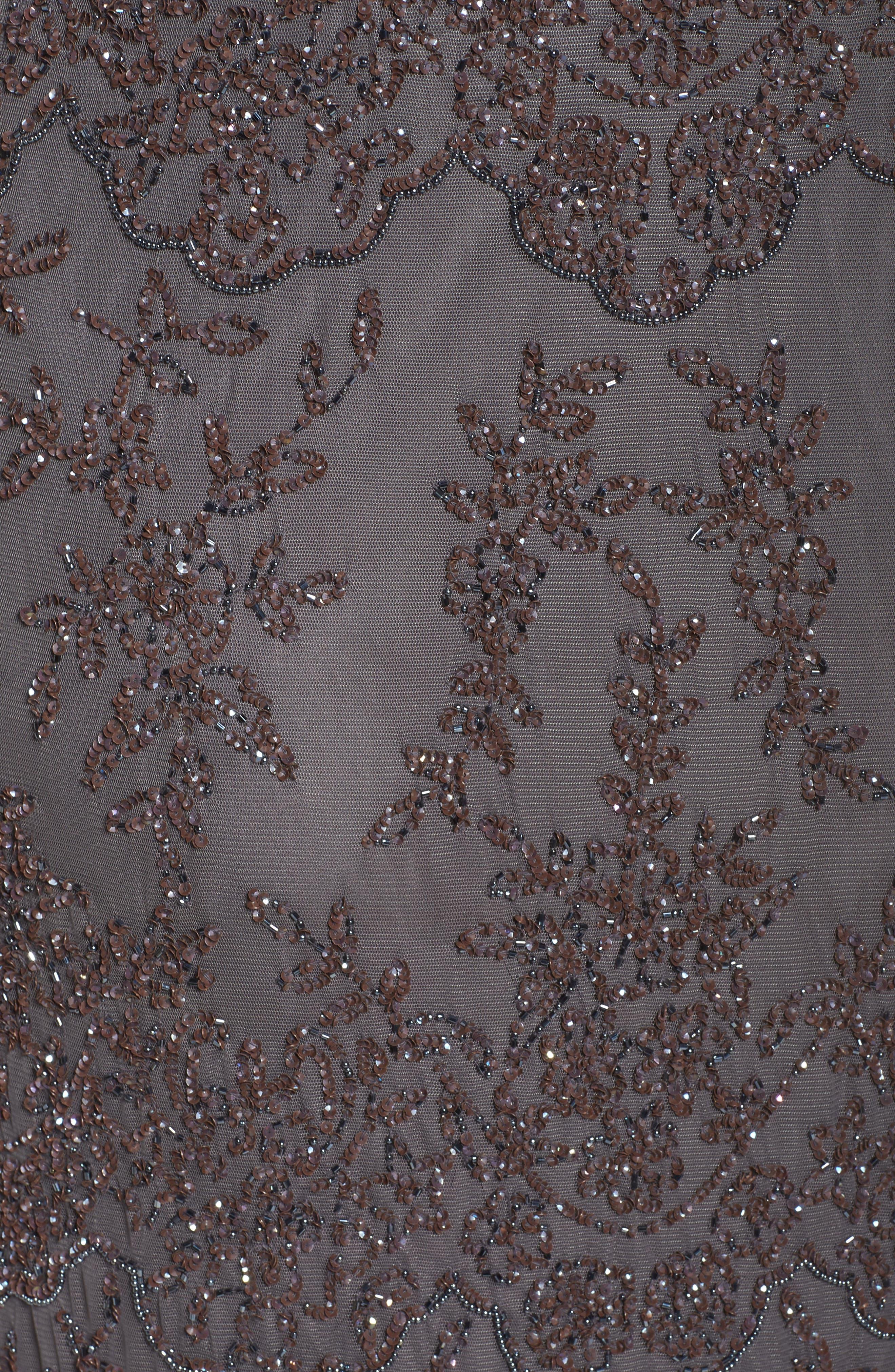 Embellished Bateau Neck Long Dress,                             Alternate thumbnail 5, color,                             020