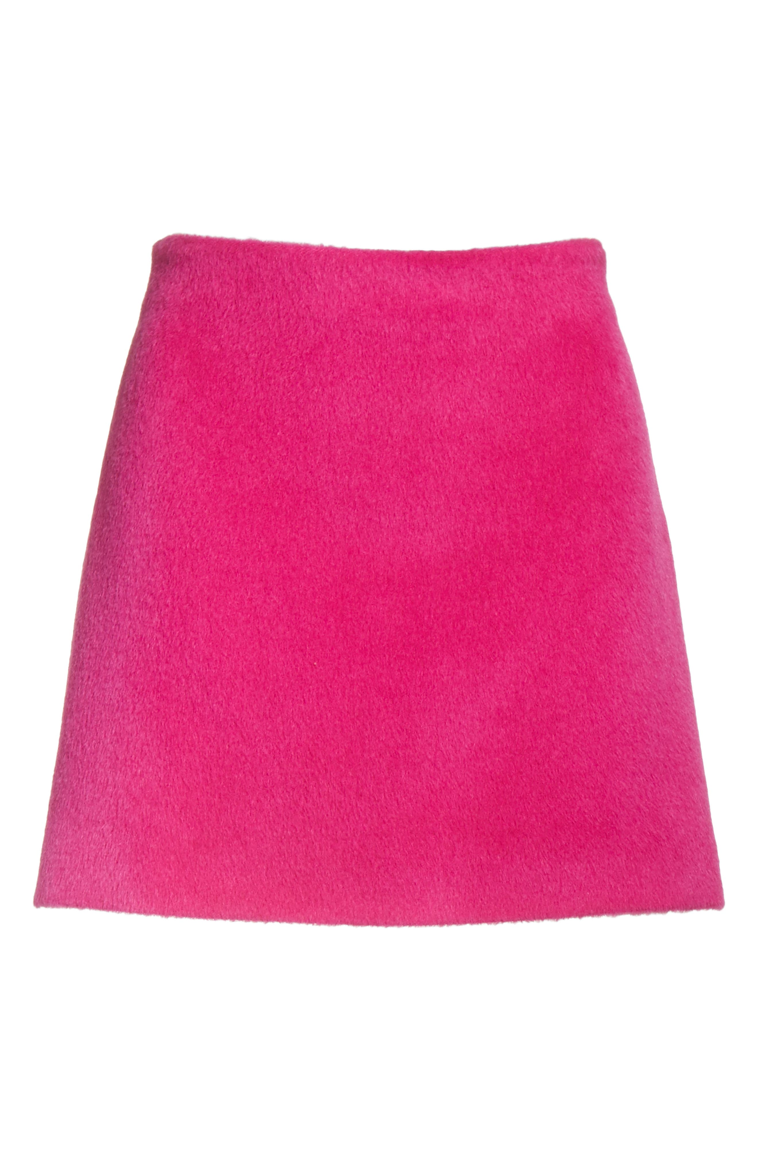 Re-Edition Brushed Alpaca & Wool Skirt,                             Alternate thumbnail 6, color,