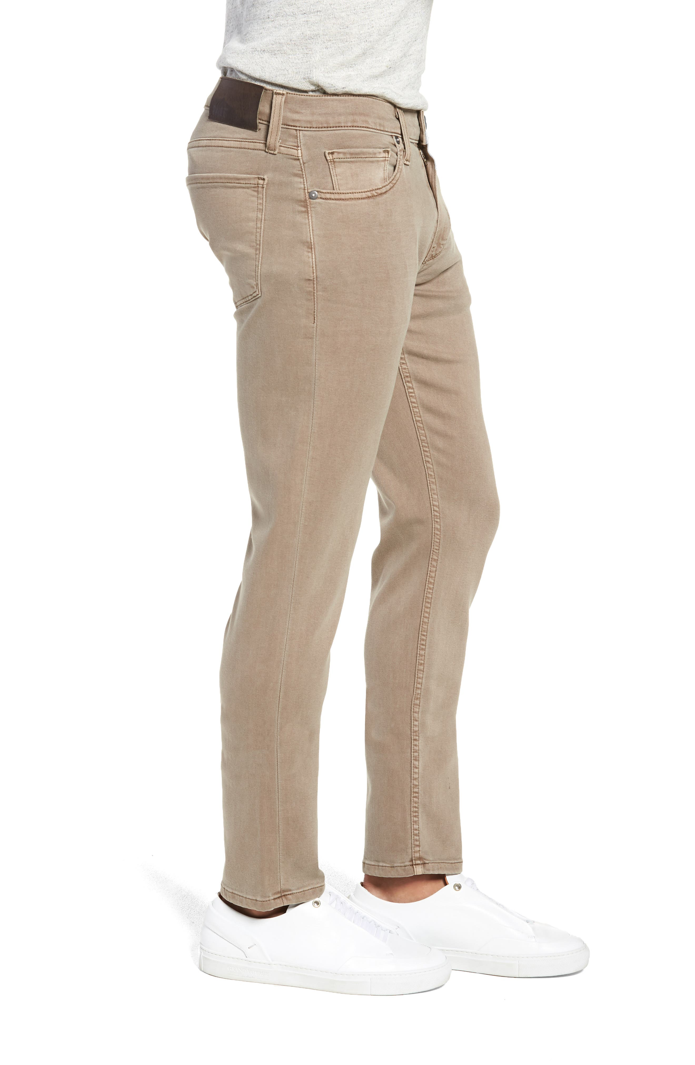 Transcend - Lennox Slim Fit Twill Pants,                             Alternate thumbnail 3, color,                             VINTAGE MUSHROOM