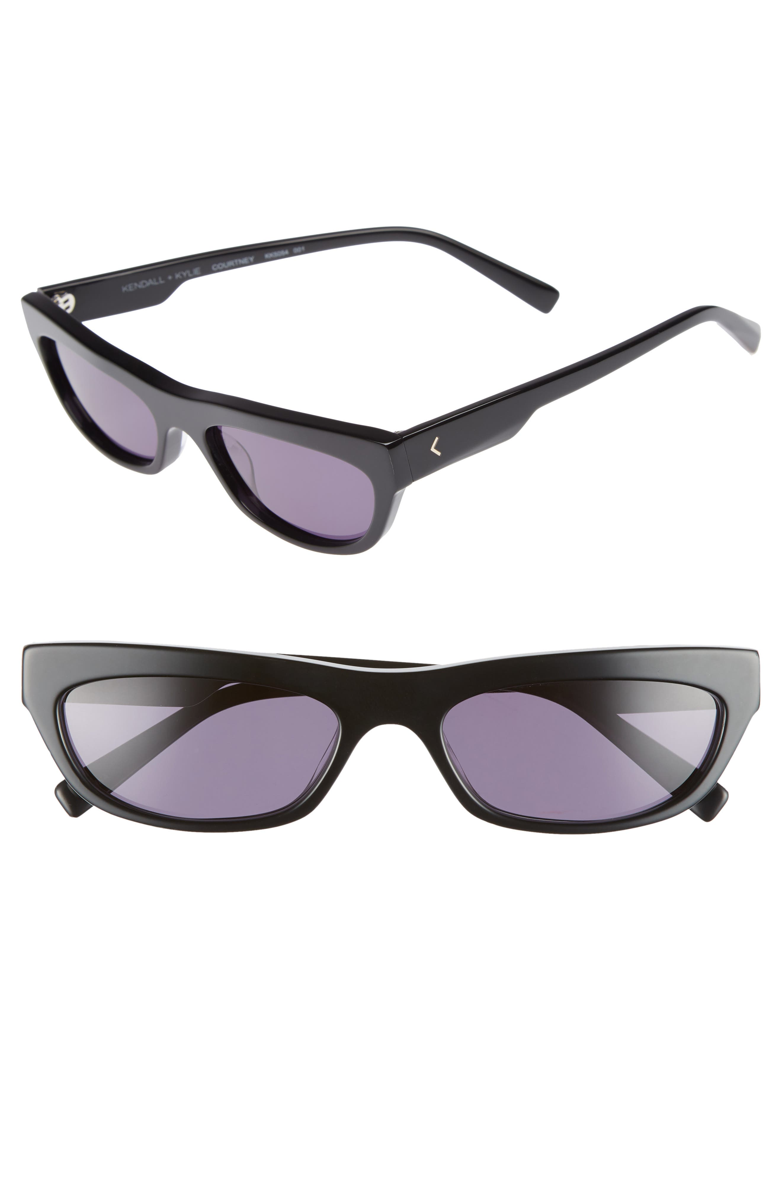 Courtney 55mm Cat Eye Sunglasses,                             Main thumbnail 1, color,                             001