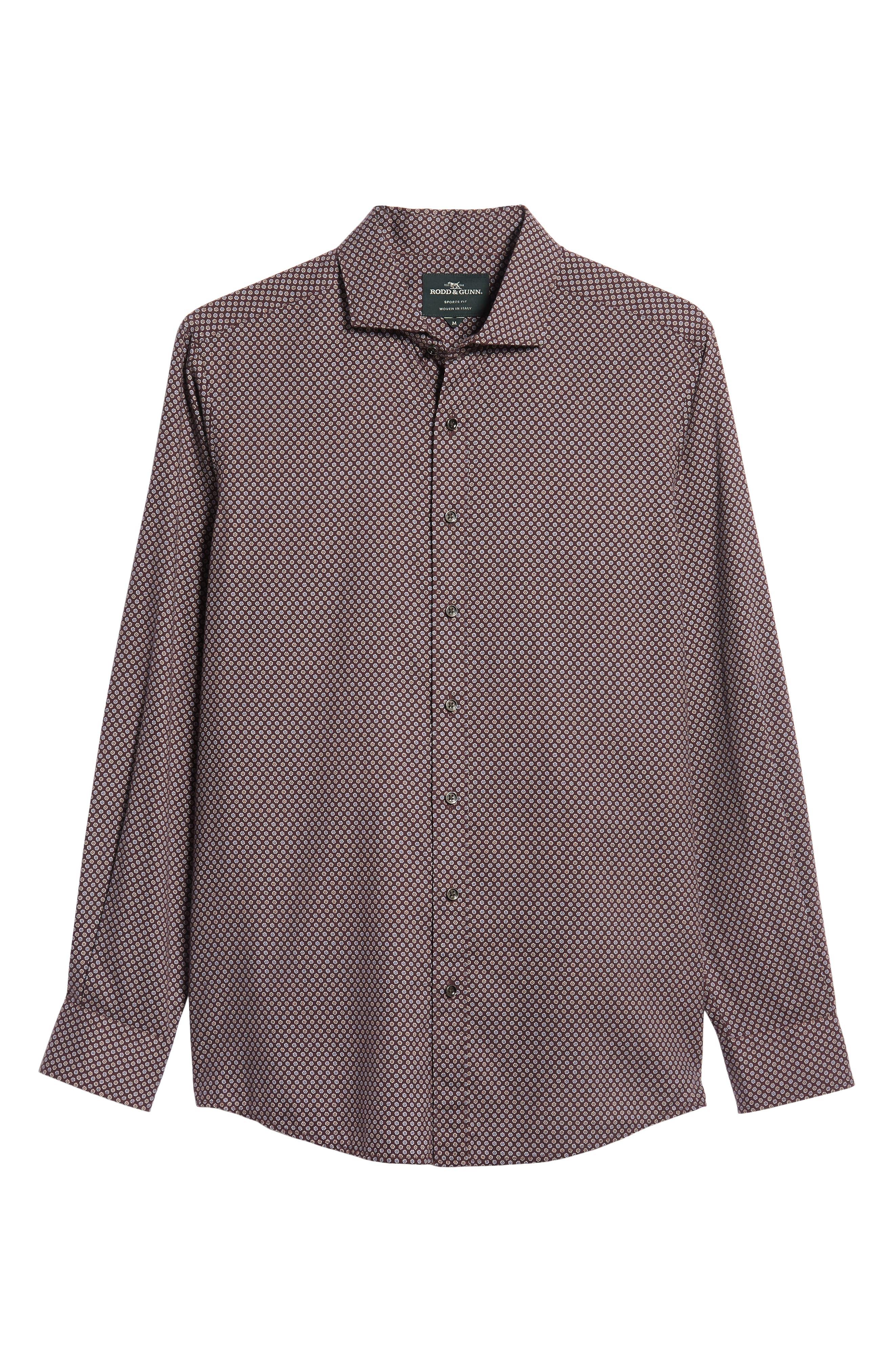 Marsden Bay Regular Fit Sport Shirt,                             Alternate thumbnail 5, color,                             BORDEAUX