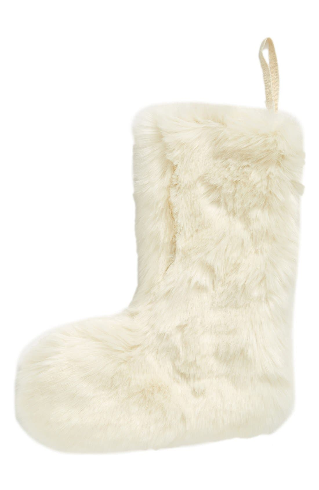 'Cuddle Up' Faux Fur Christmas Stocking,                             Main thumbnail 5, color,
