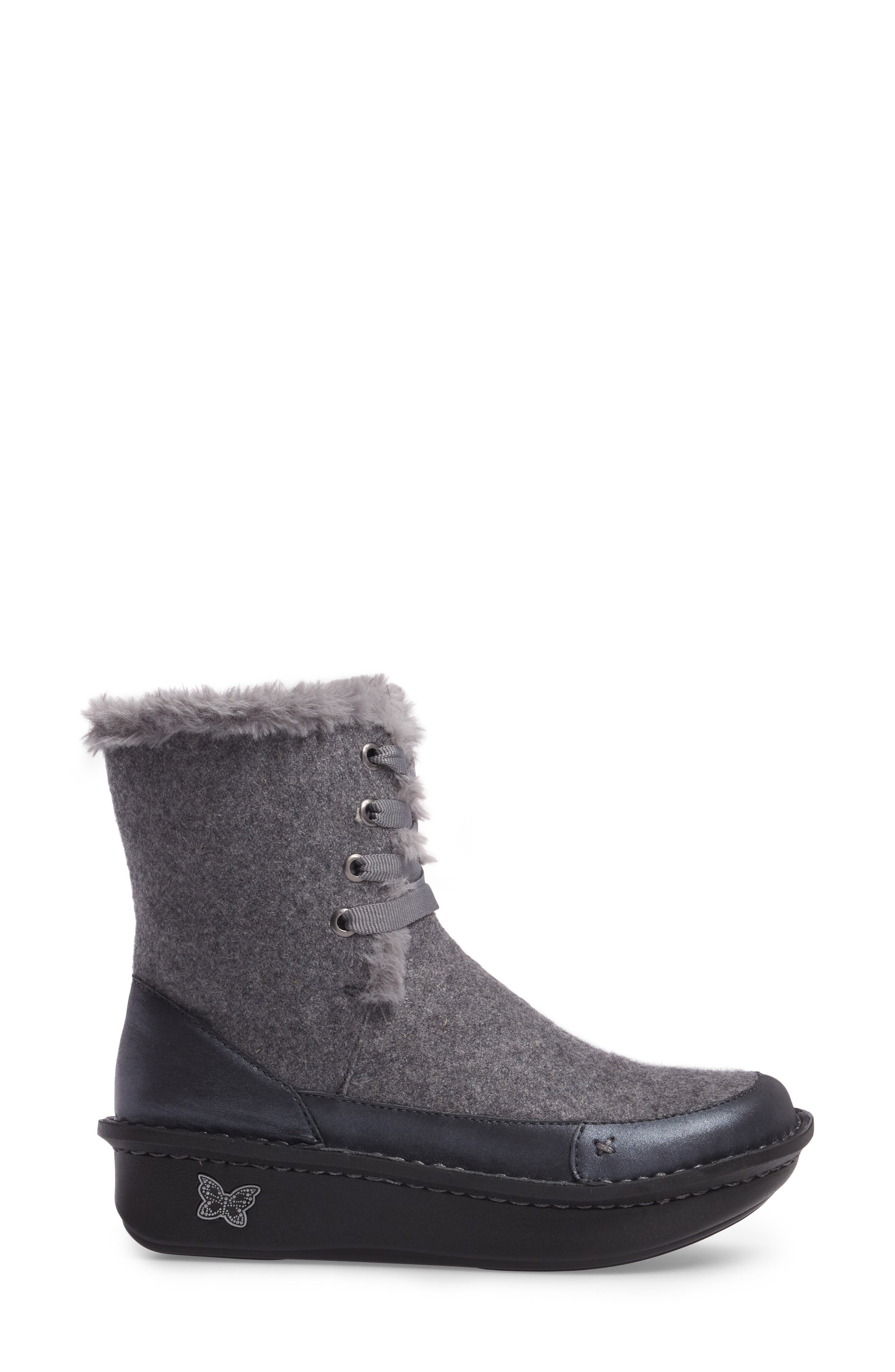 Twisp Lace-Up Boot with Faux Fur Lining,                             Alternate thumbnail 7, color,