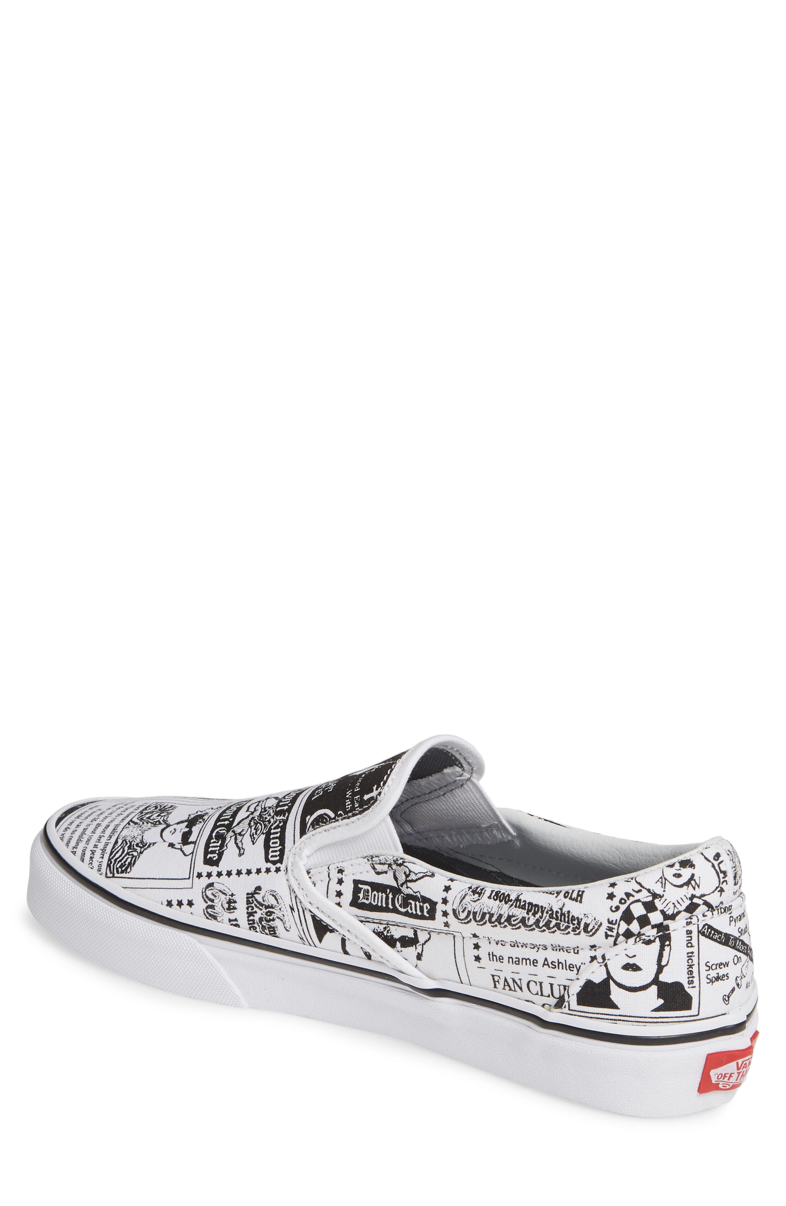 VANS,                             x Ashley Williams Print Classic Slip-On Sneaker,                             Alternate thumbnail 2, color,                             100
