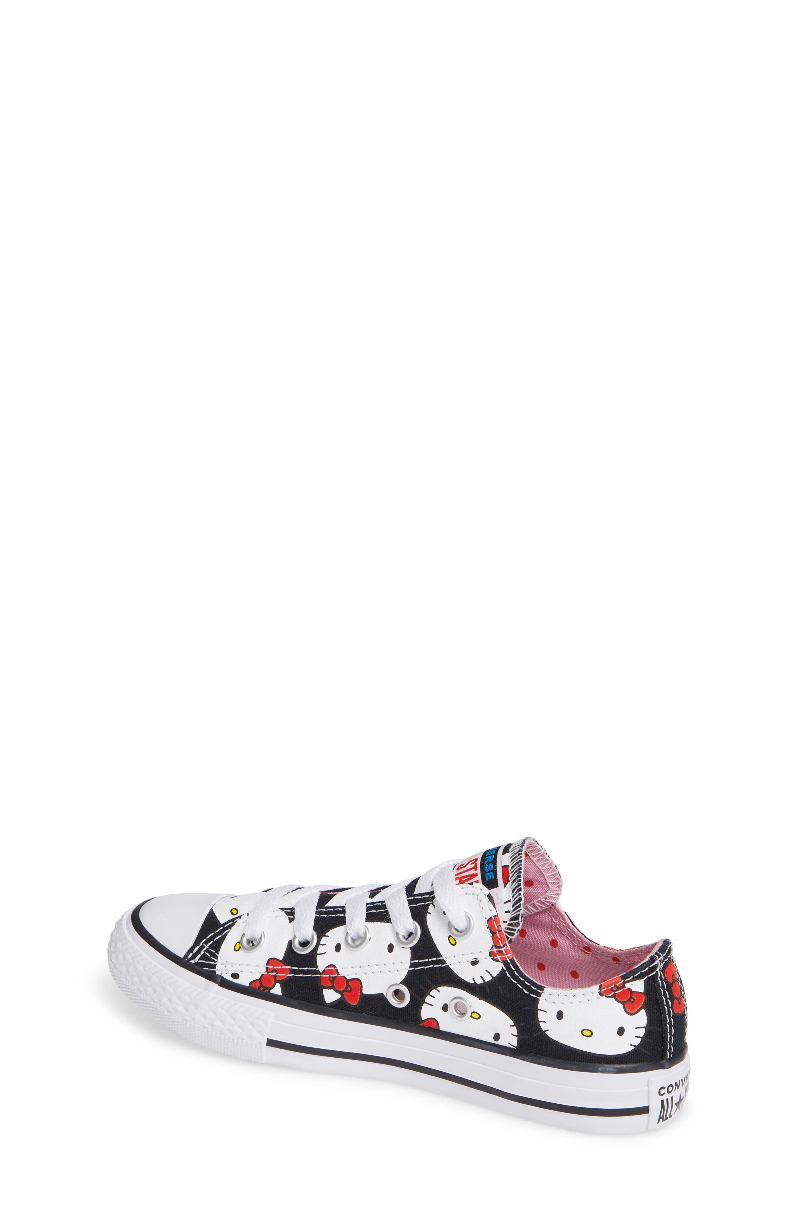 Chuck Taylor<sup>®</sup> All Star<sup>®</sup> Hello Kitty<sup>®</sup> Sneaker,                             Alternate thumbnail 2, color,                             BLACK