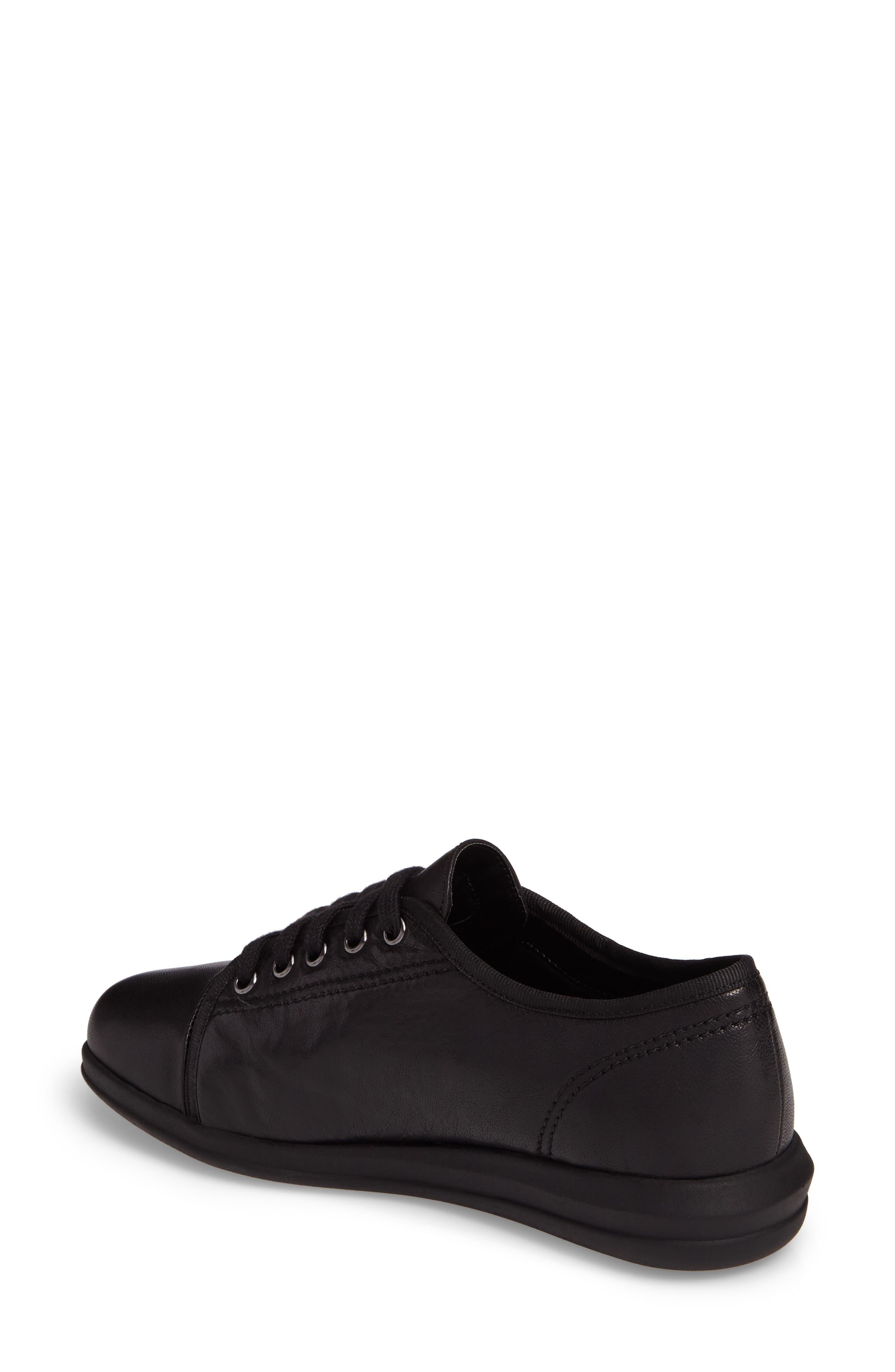Siren Sneaker,                             Alternate thumbnail 2, color,                             BLACK LEATHER