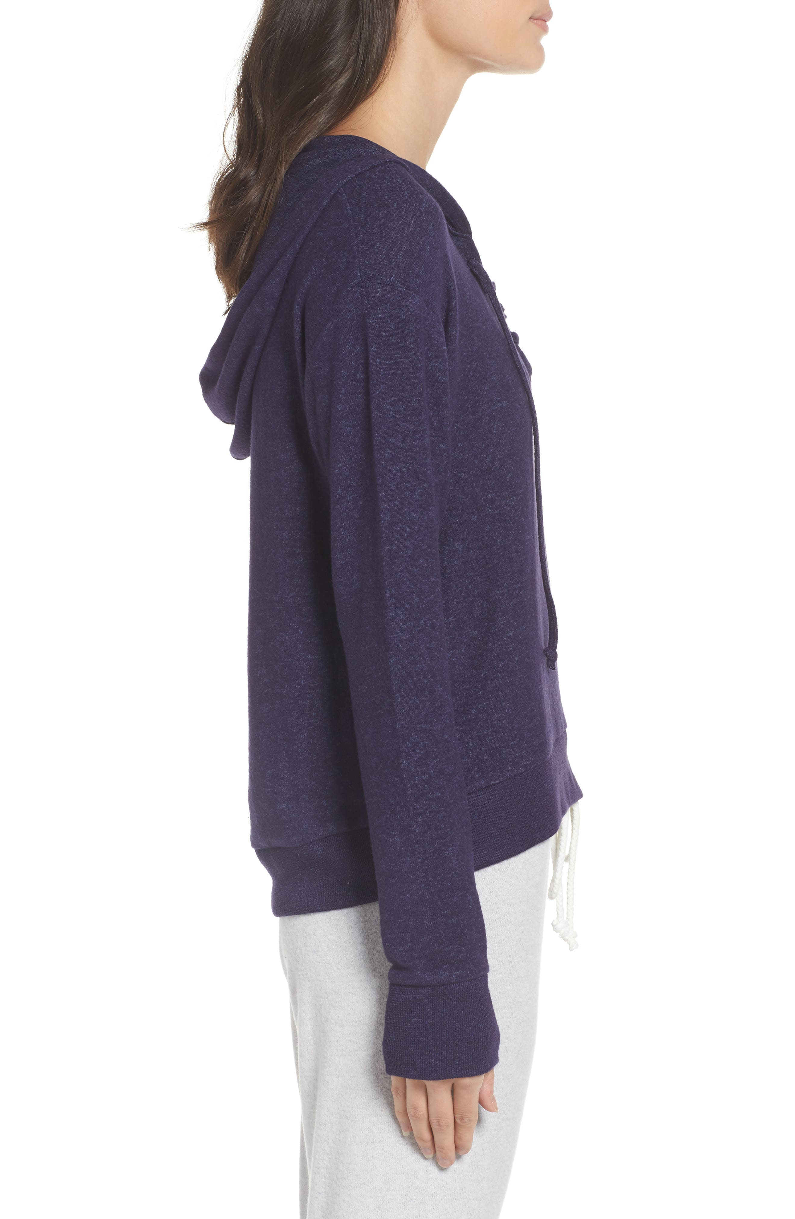 Brushed Hacci Hoodie,                             Alternate thumbnail 21, color,