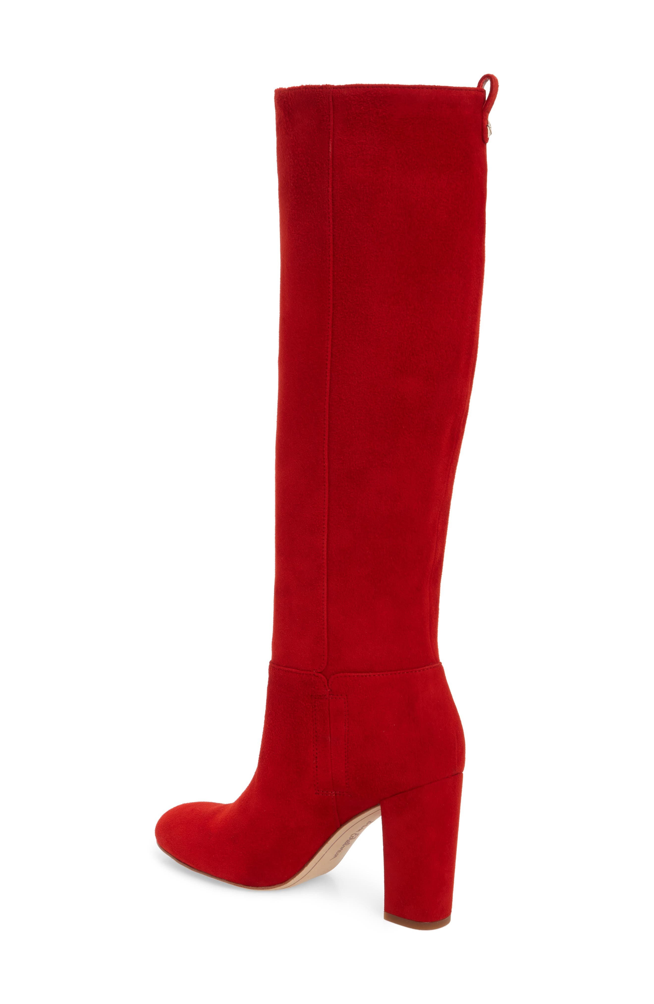 Caprice Knee-High Boot,                             Alternate thumbnail 2, color,                             CANDY RED SUEDE