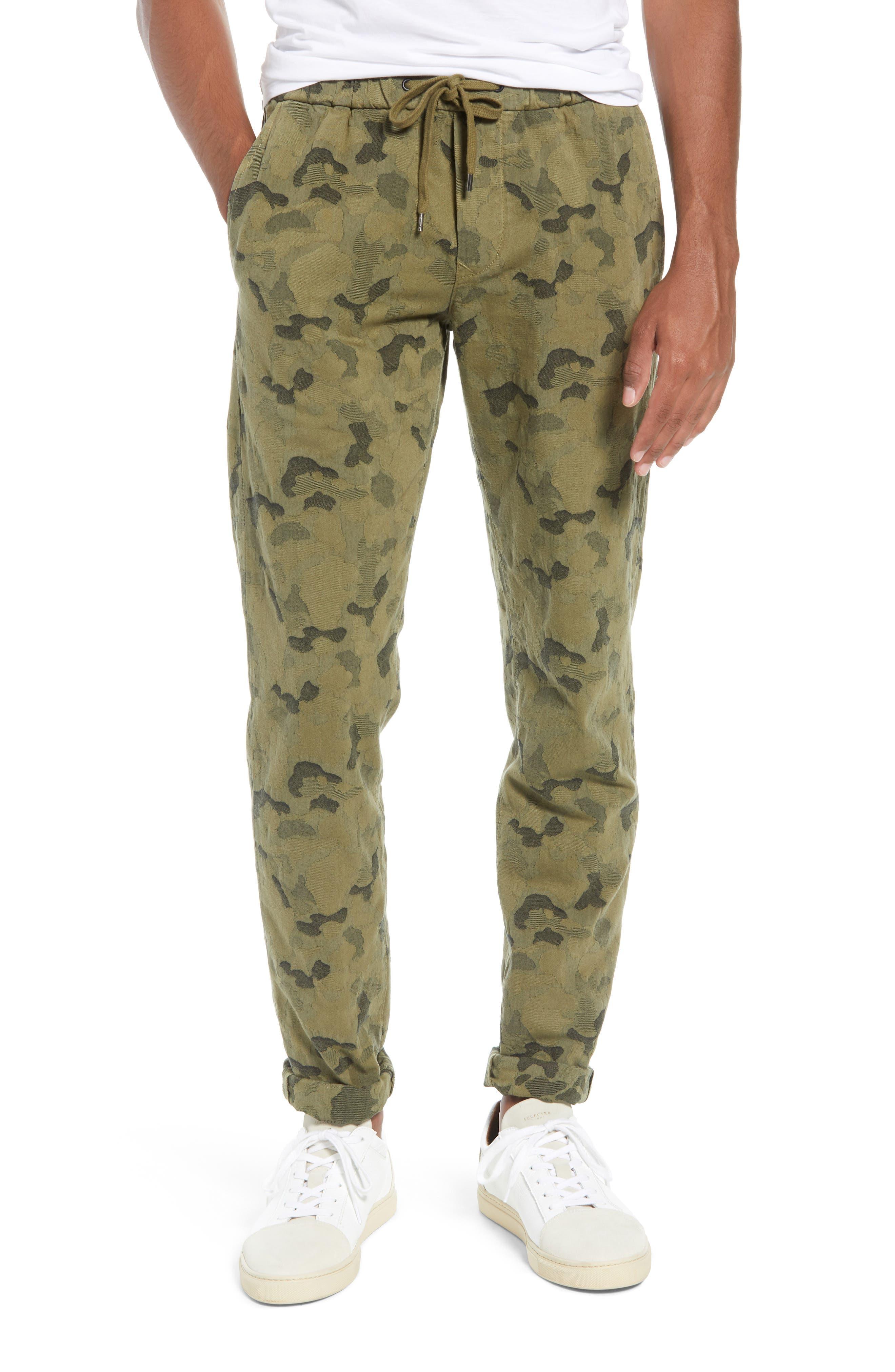 Camo Jacquard Slim Pants,                         Main,                         color, SPRIG