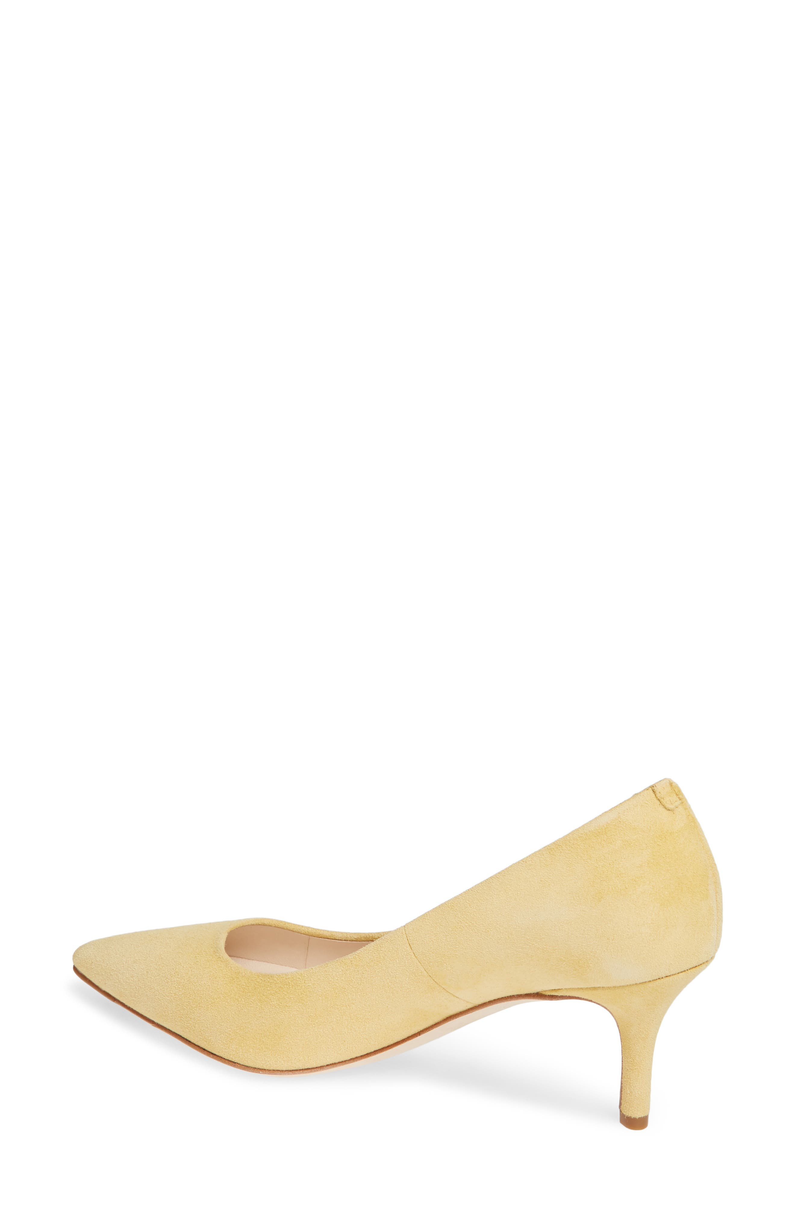 COLE HAAN,                             Vesta Pointy Toe Pump,                             Alternate thumbnail 2, color,                             SUNSET GOLD SUEDE