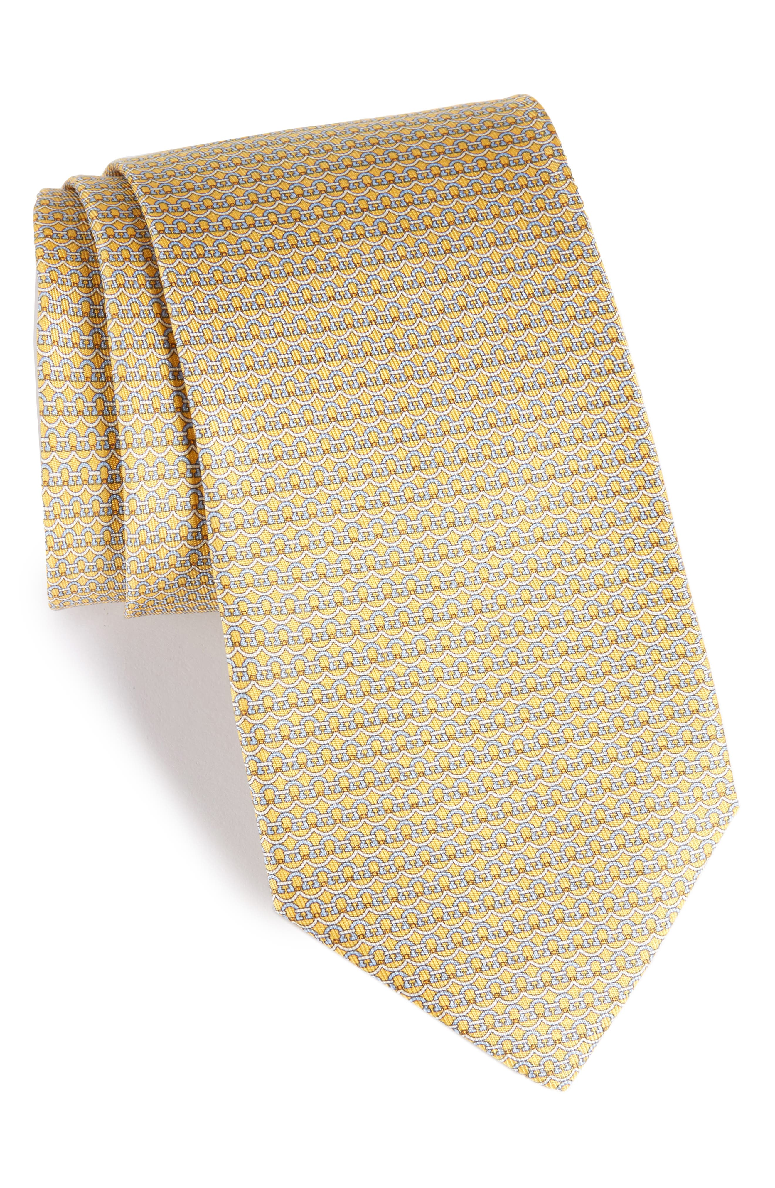 Gancini Silk Tie,                             Main thumbnail 5, color,