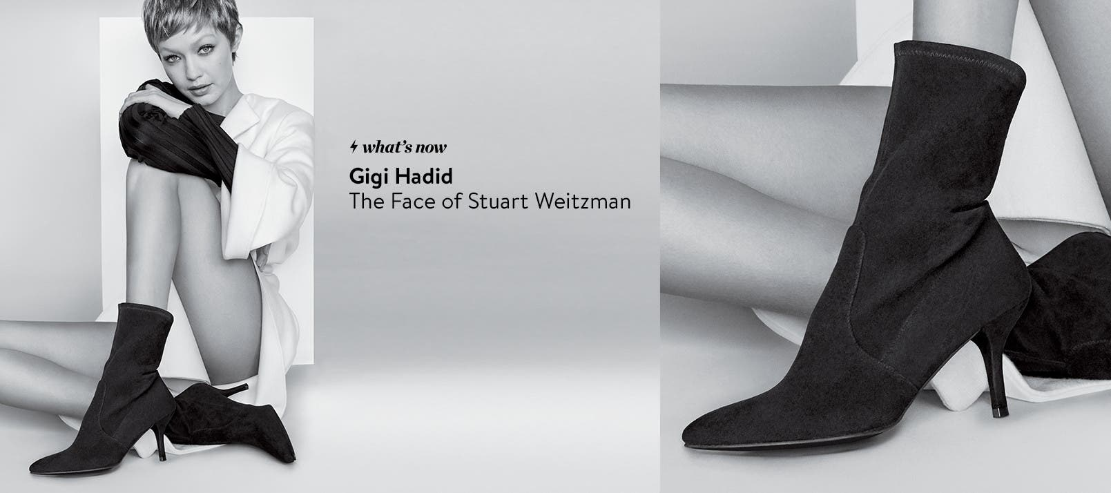 Gigi Hadid: the face of Stuart Weitzman's fall shoe collection.