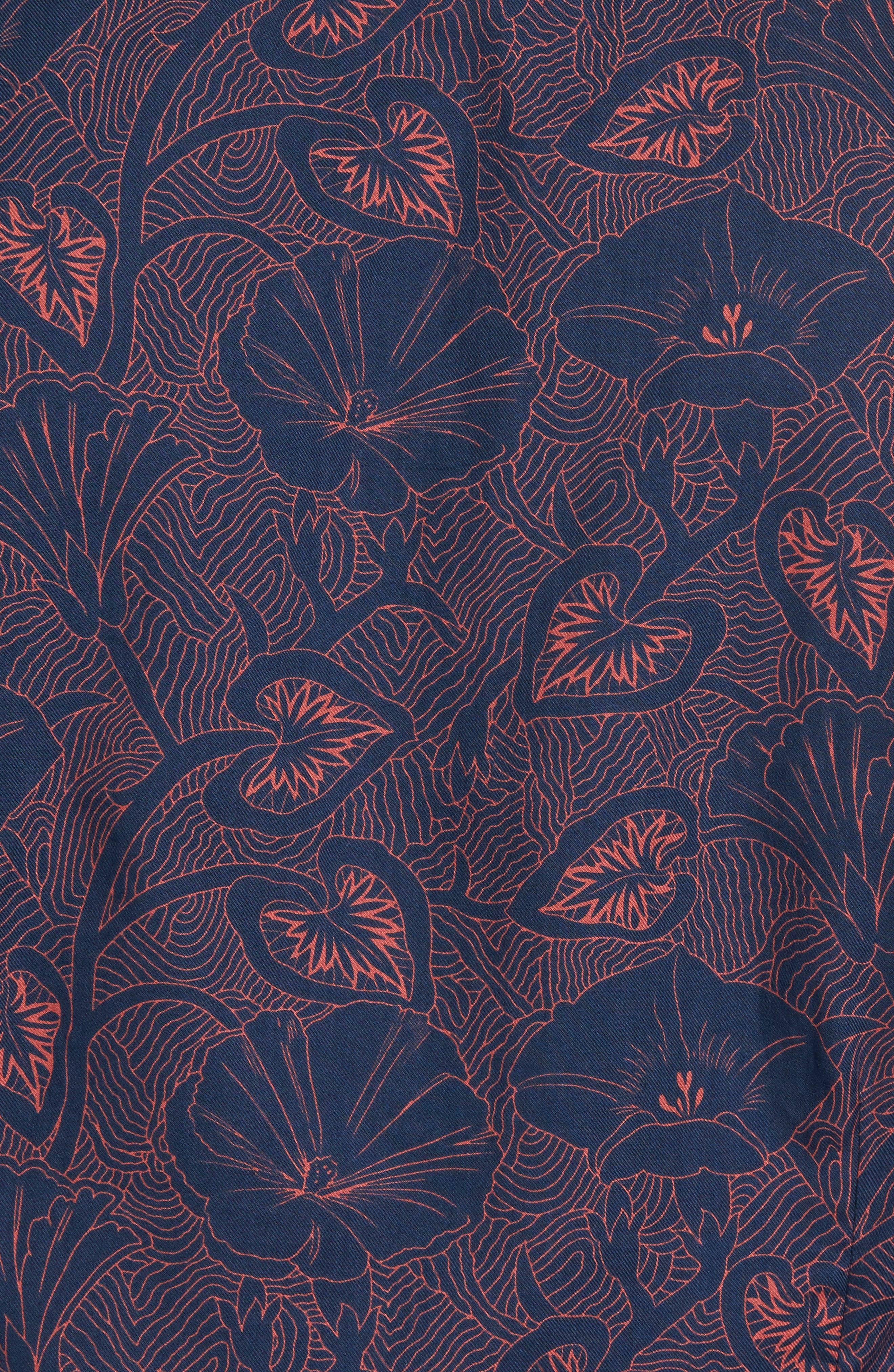 Floral Twill Sport Shirt,                             Alternate thumbnail 5, color,                             400