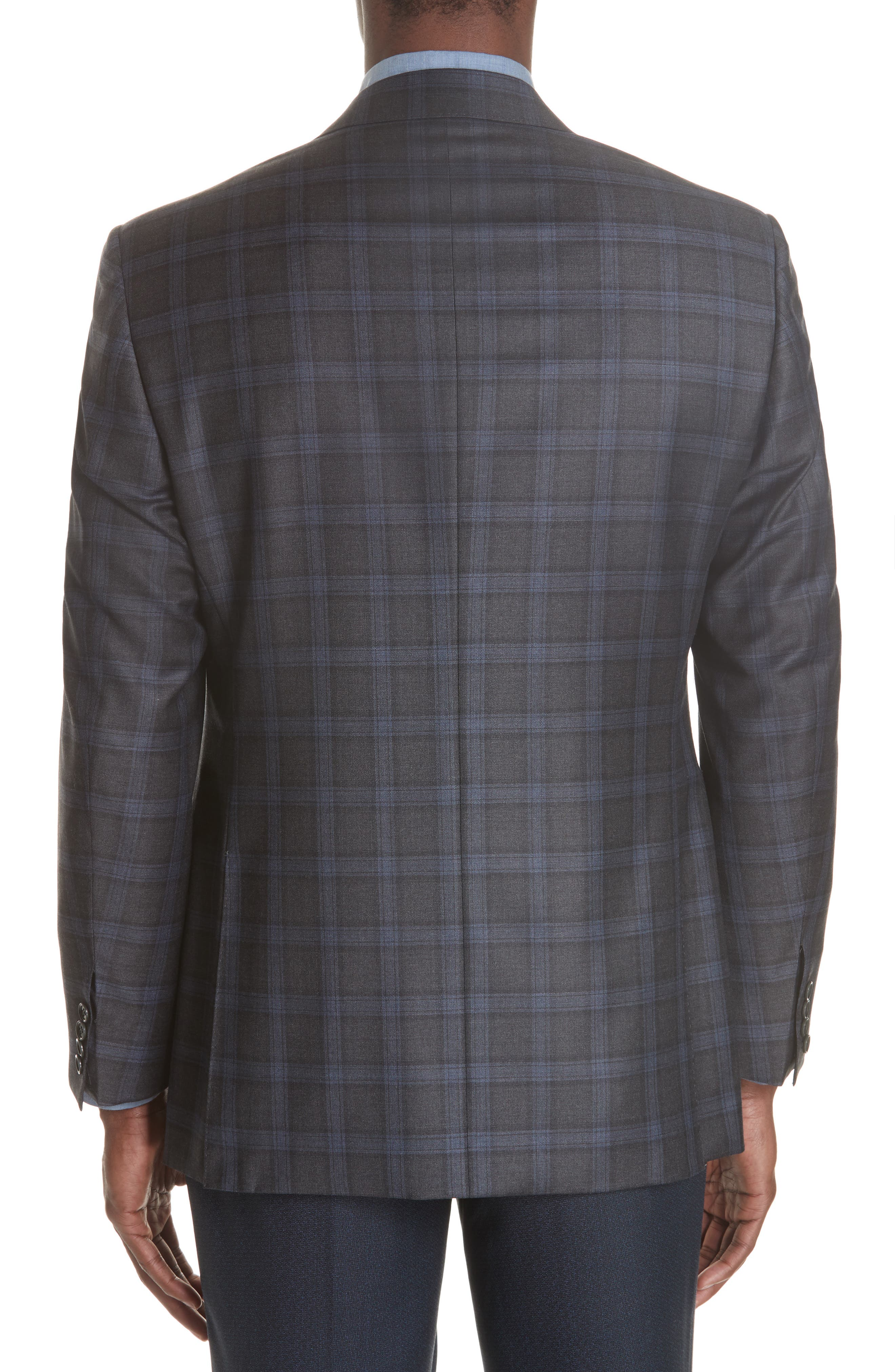 Classic Fit Plaid Wool Sport Coat,                             Alternate thumbnail 2, color,                             020