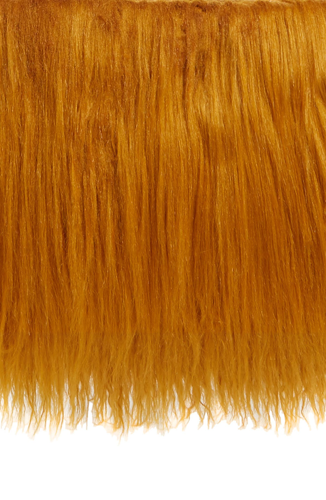 DRIES VAN NOTEN Faux Shearling Crossbody Bag, Main, color, GOLD