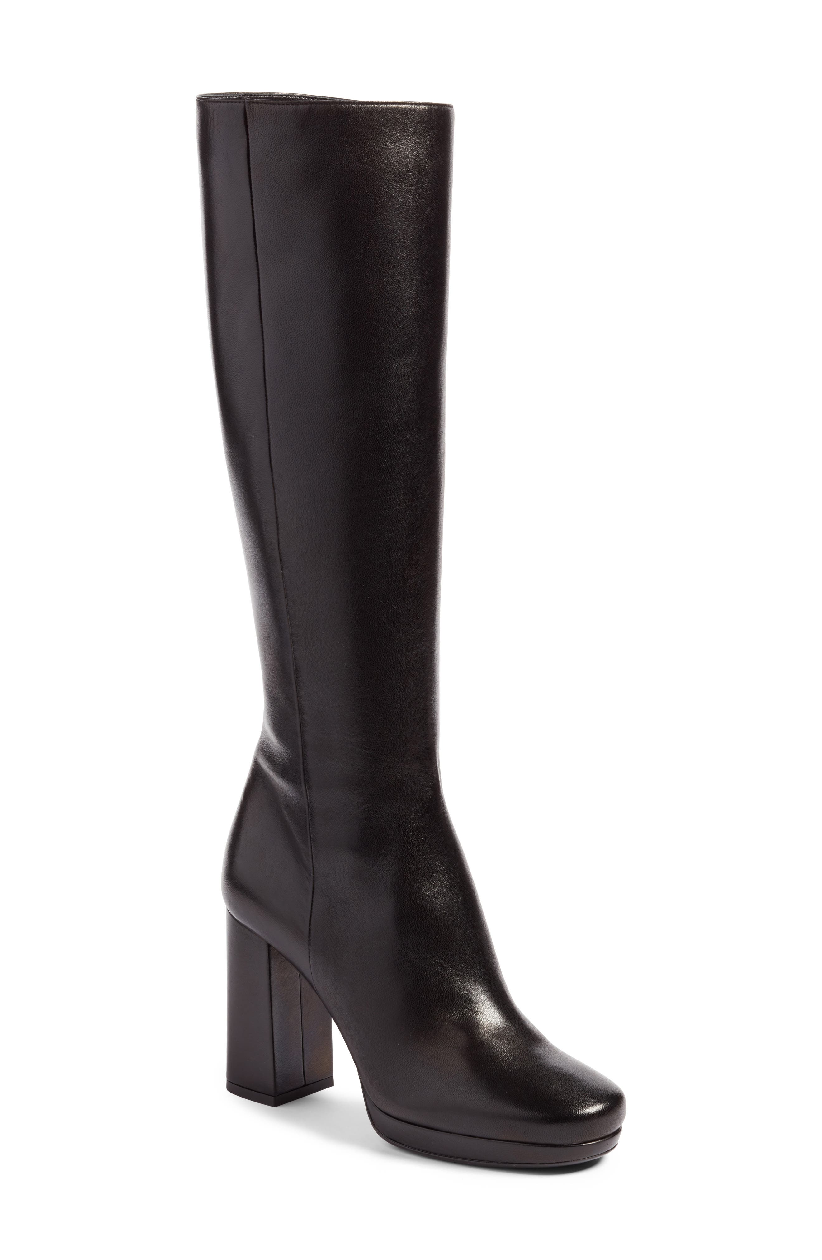 Block Heel Tall Boot,                             Main thumbnail 1, color,                             001