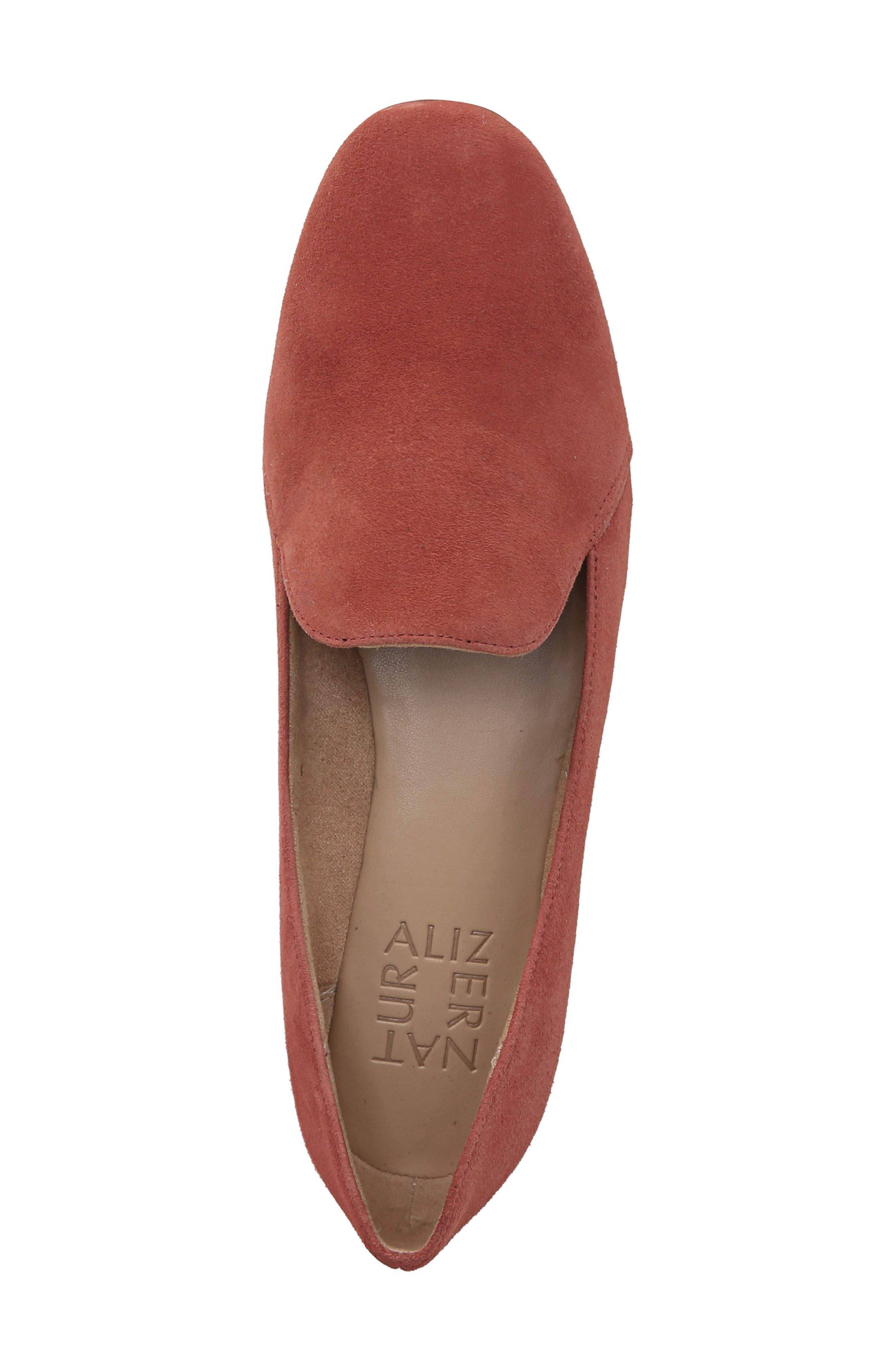 Emiline Flat Loafer,                             Alternate thumbnail 5, color,                             DESERT CLAY SUEDE