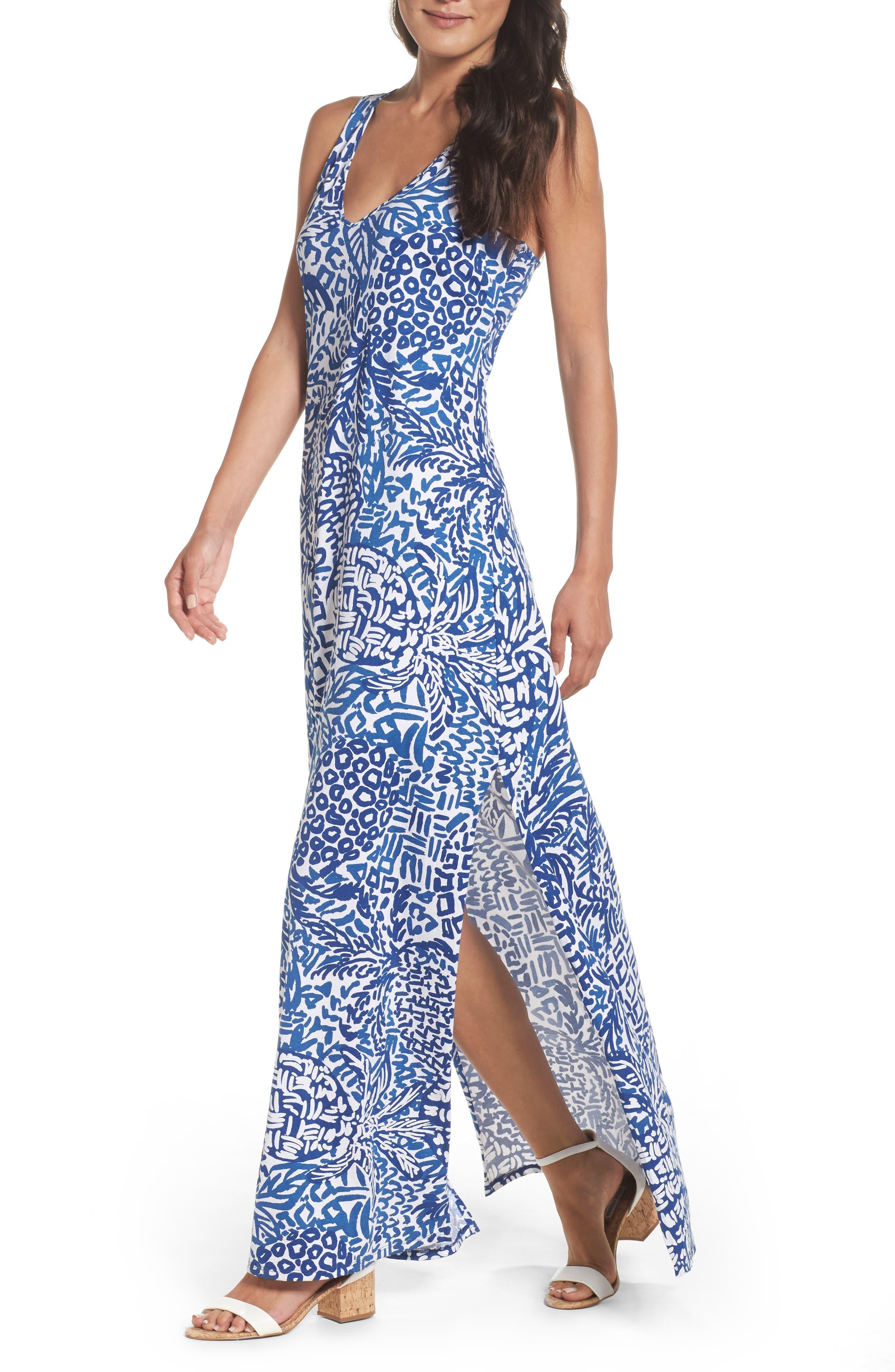 Kerri Maxi Dress,                             Alternate thumbnail 4, color,                             427