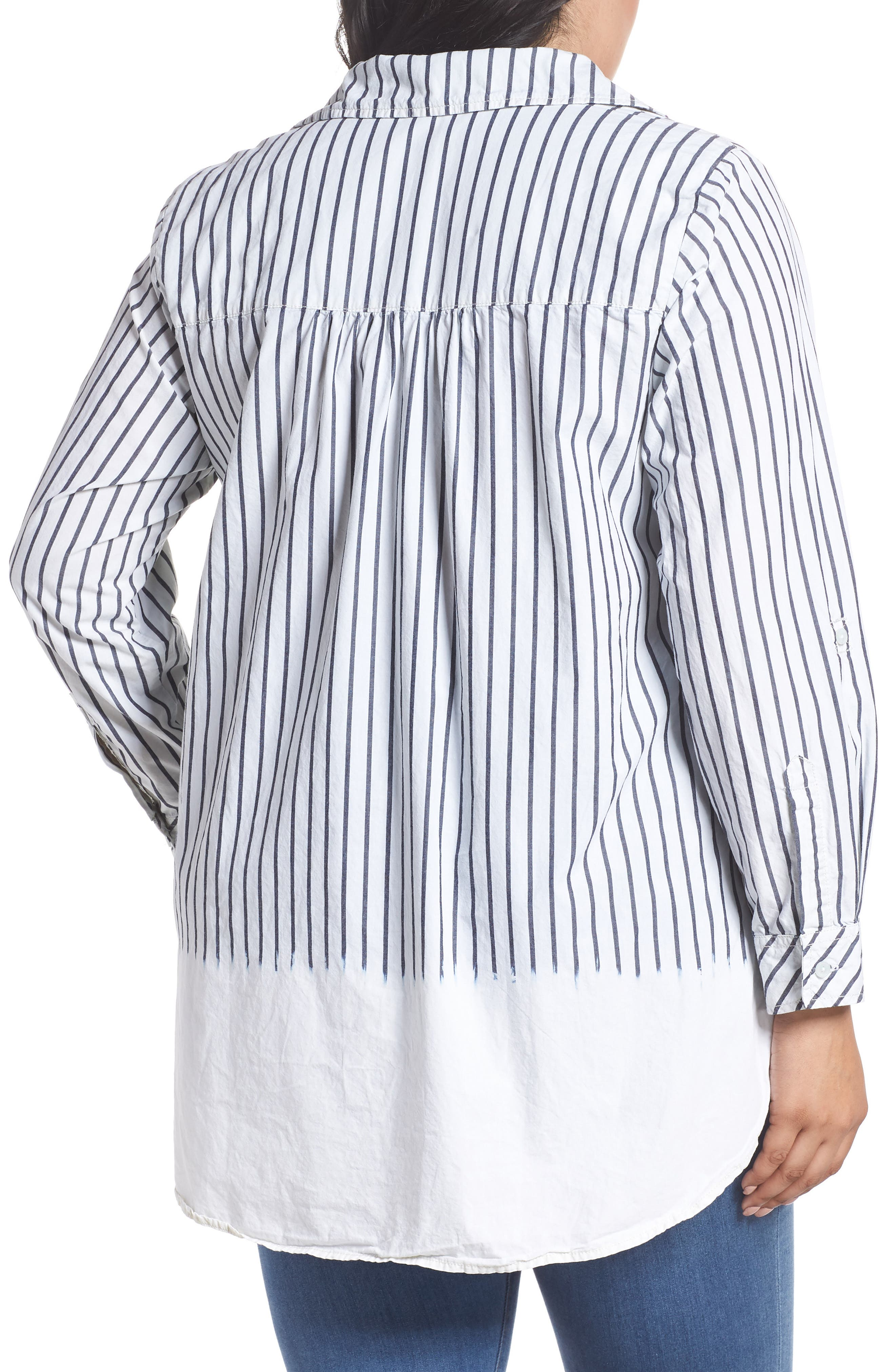 Miles Stripe Maxi Tunic Top,                             Alternate thumbnail 2, color,                             110