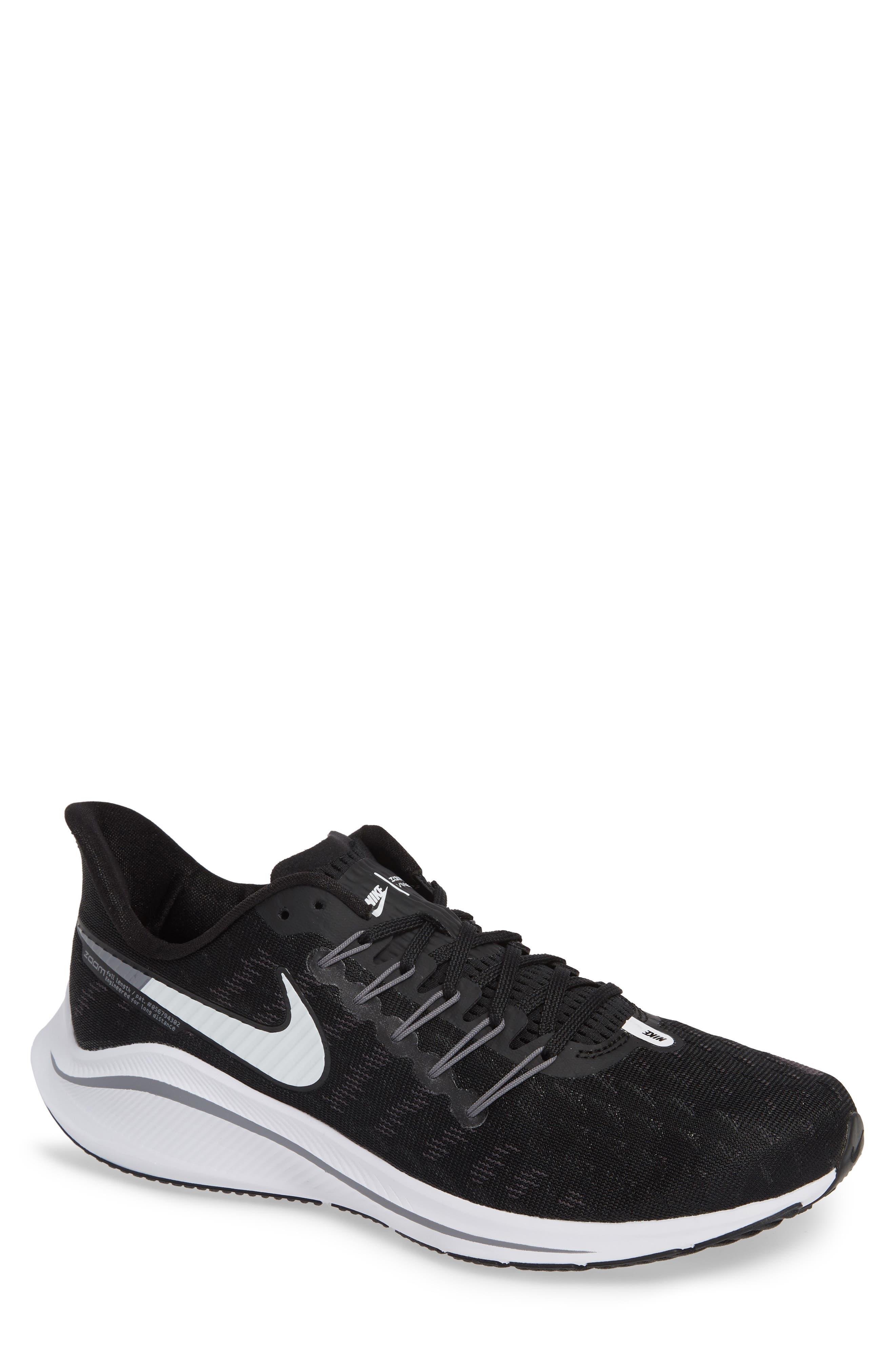 Air Zoom Vomero 14 Running Shoe,                             Main thumbnail 1, color,                             BLACK/ WHITE/ THUNDER GREY