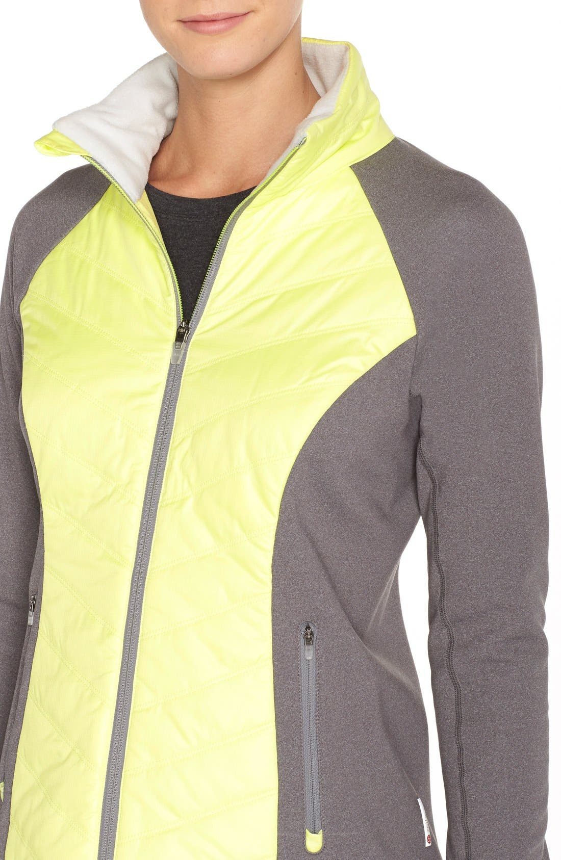 Zelfusion Reflective Quilted Jacket,                             Alternate thumbnail 17, color,