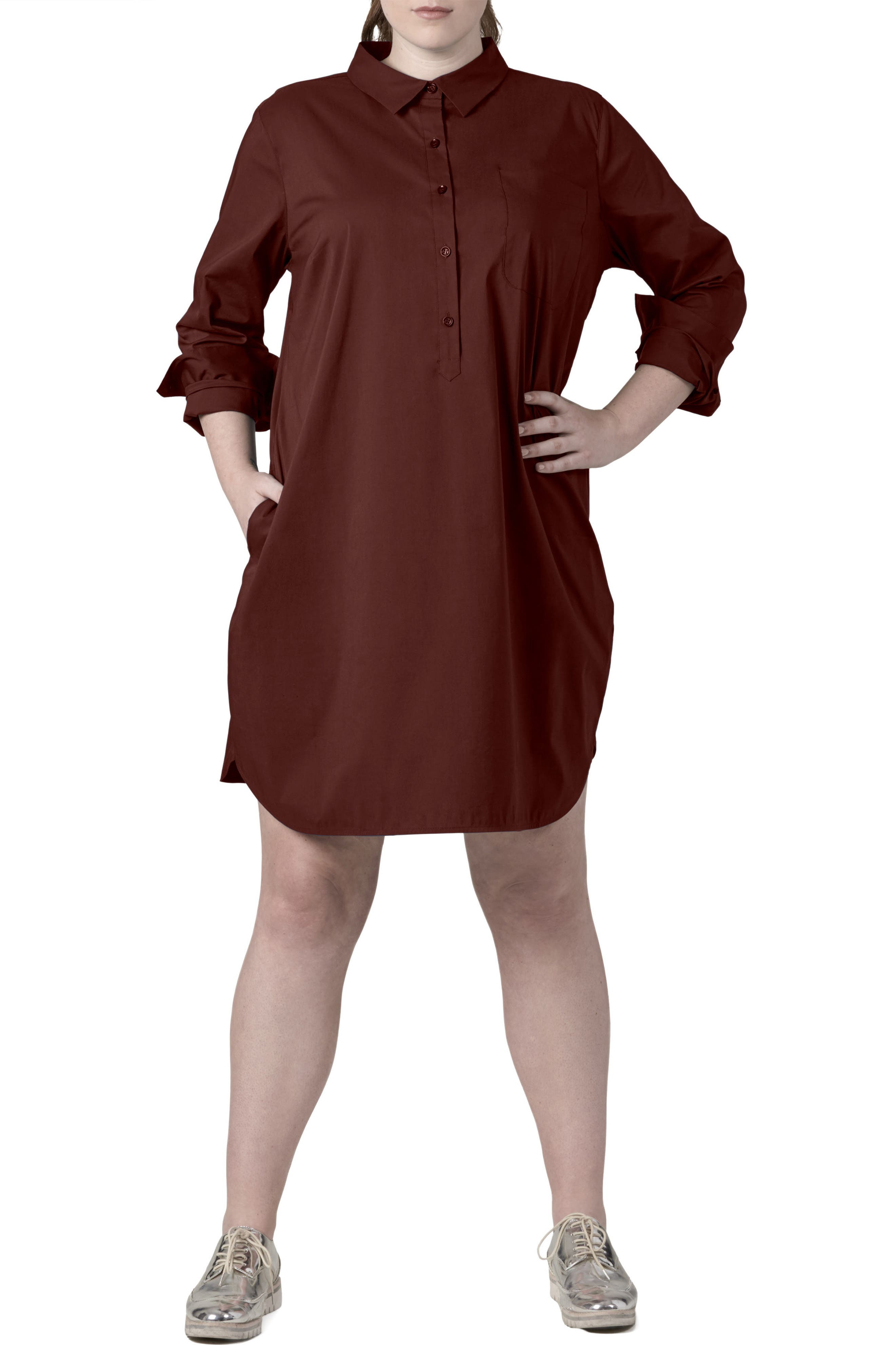 Rubicon Shirtdress,                             Main thumbnail 1, color,                             RUM RAISIN