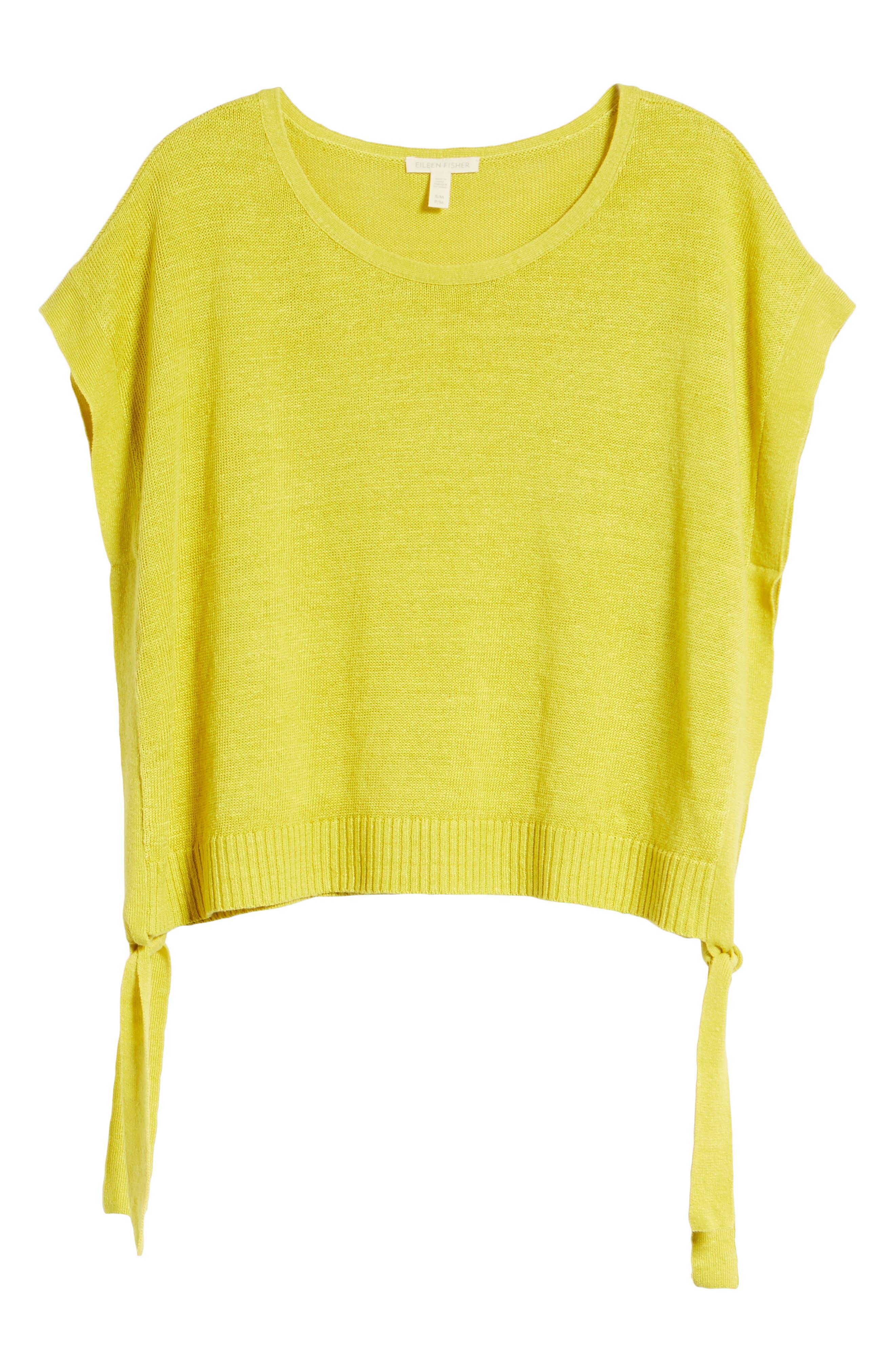 Short Organic Linen Poncho Top,                             Alternate thumbnail 31, color,