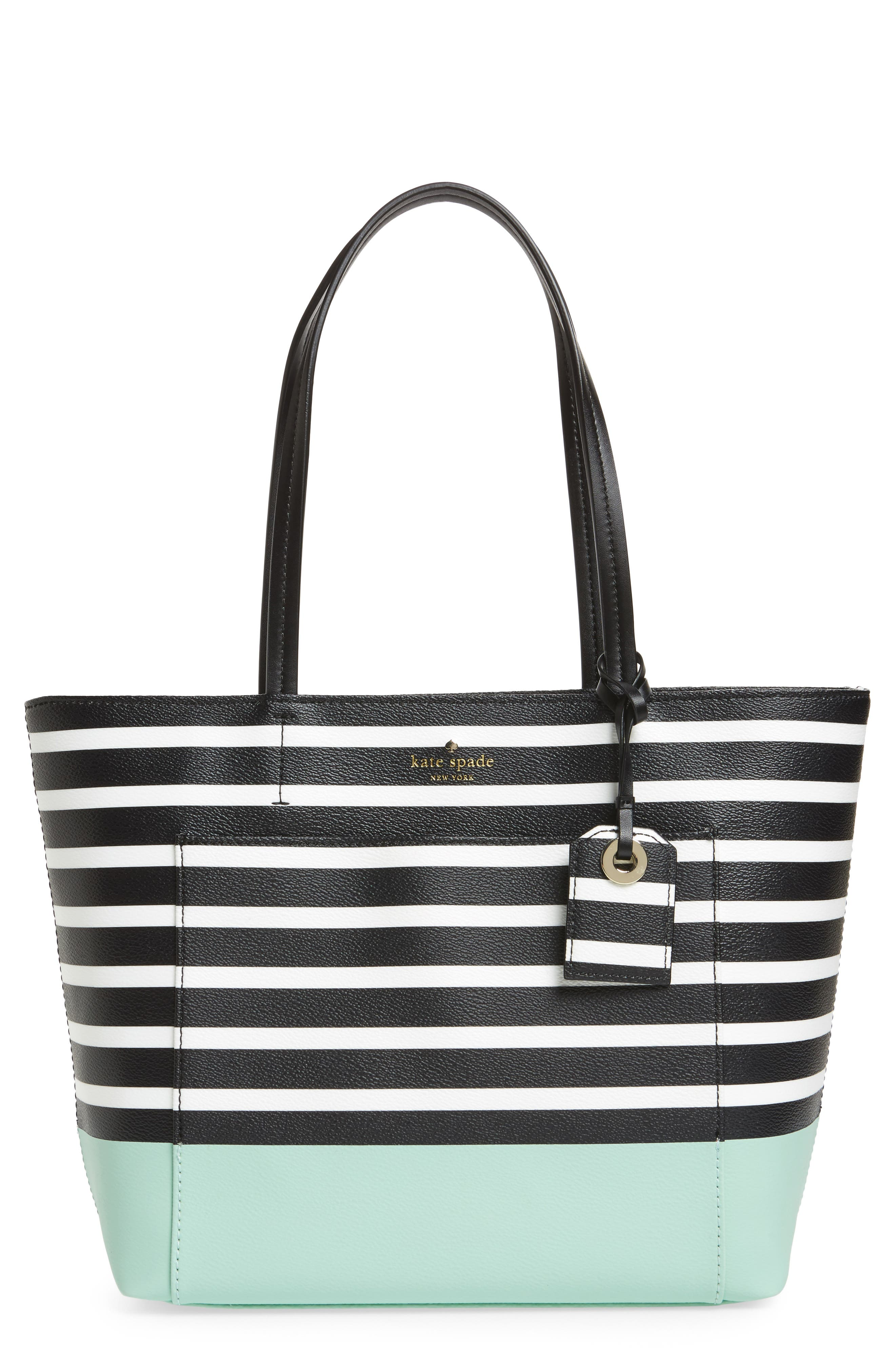 hyde lane dipped stripe - small riley tote,                             Main thumbnail 1, color,                             377