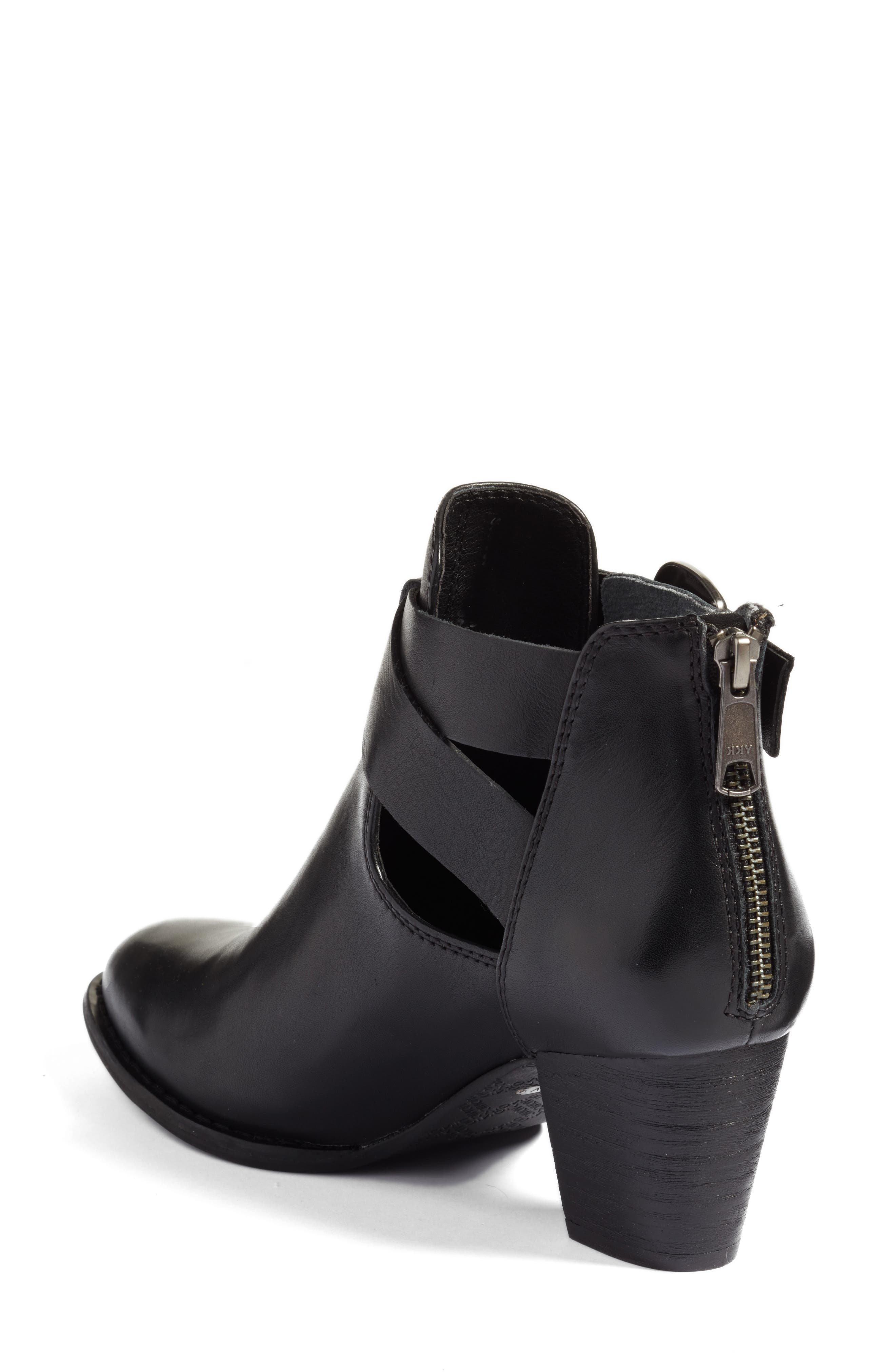 Rory Buckle Strap Bootie,                             Alternate thumbnail 2, color,                             001
