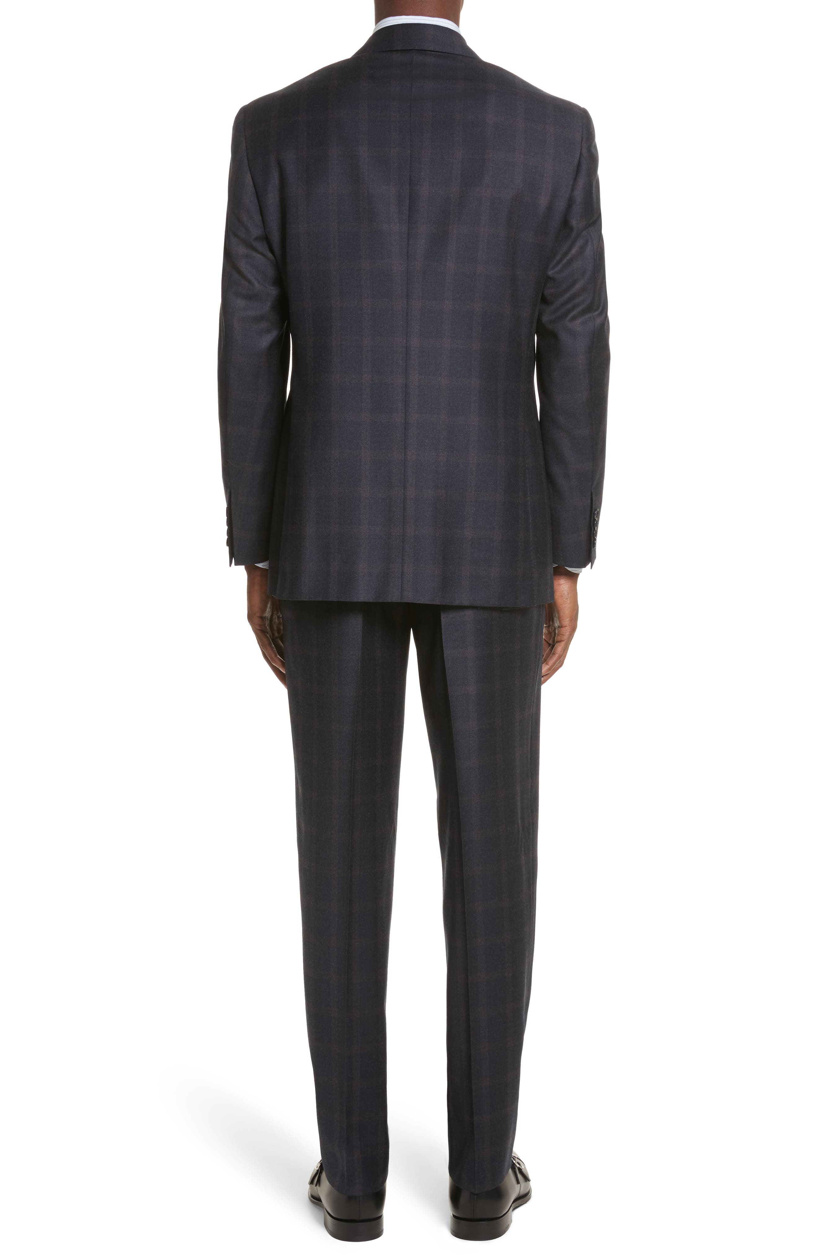 Classic Fit Plaid Wool Suit,                             Alternate thumbnail 2, color,                             420