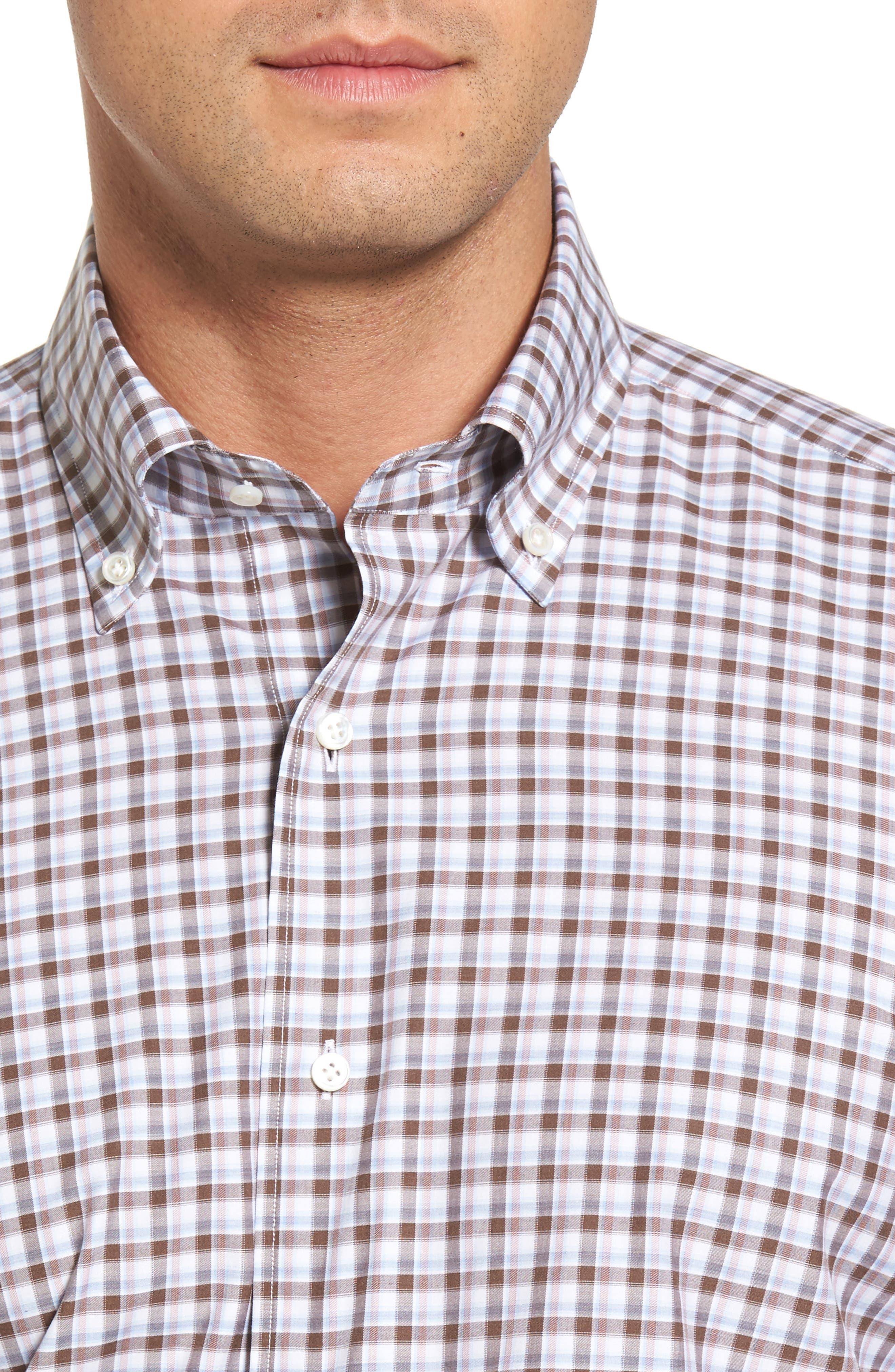 Peter Millar Northern Lights Regular Fit Check Sport Shirt,                             Alternate thumbnail 4, color,                             203