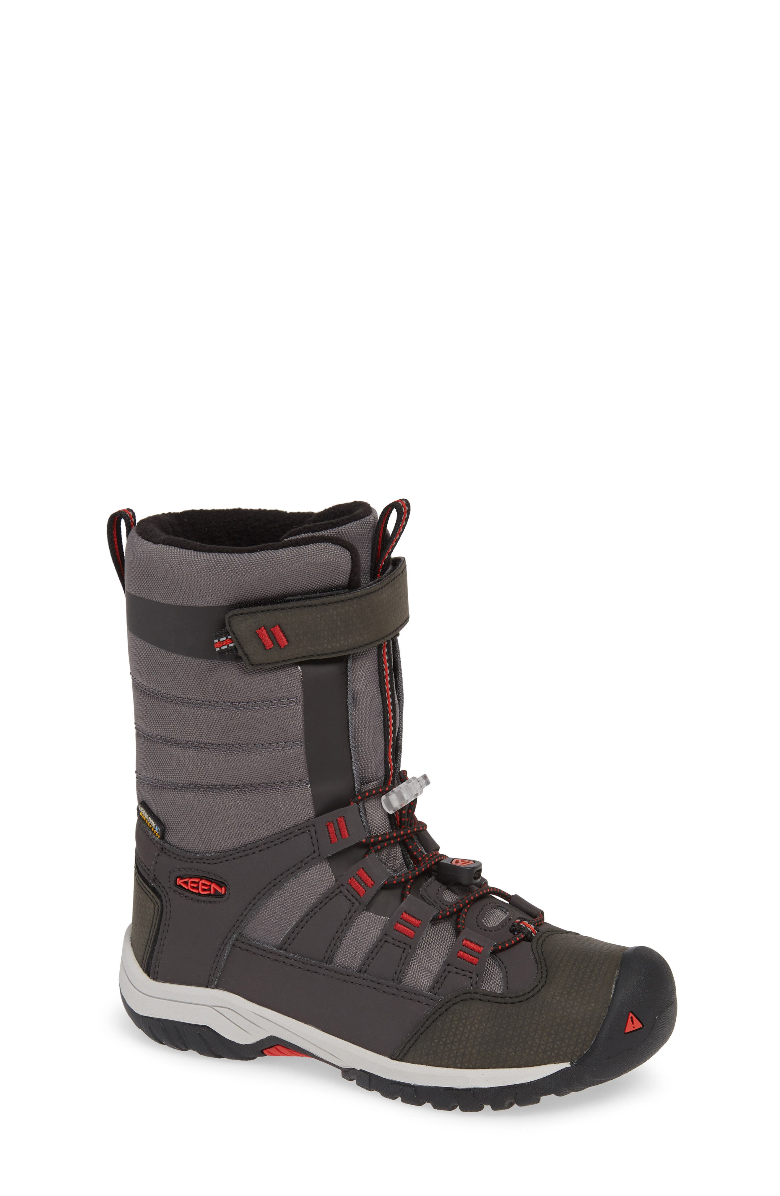 Winterport Neo Waterproof Insulated Boot,                             Main thumbnail 1, color,                             MAGNET/ FIREY RED