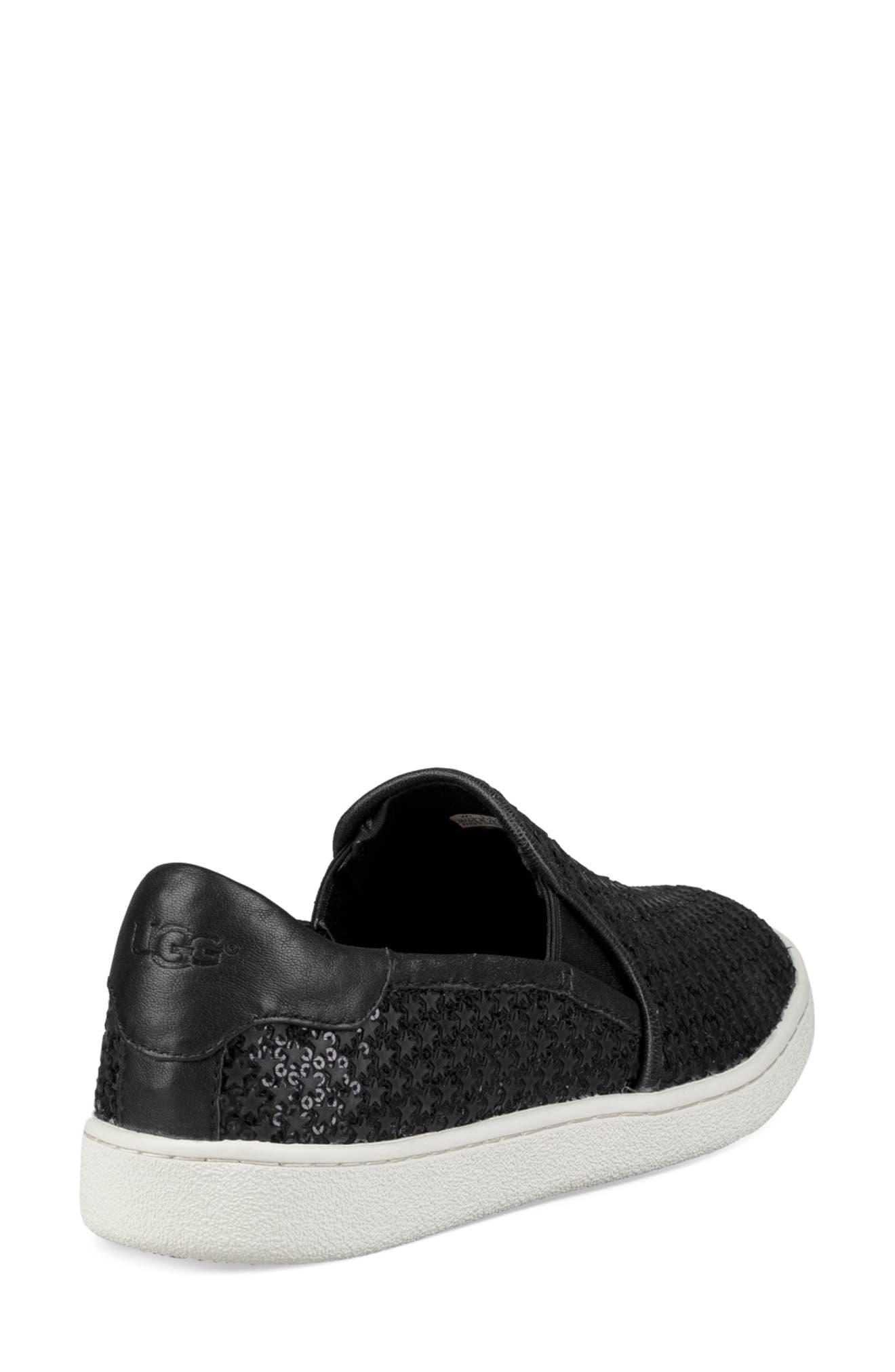 Cas Glitter Sneaker,                             Alternate thumbnail 2, color,                             BLACK