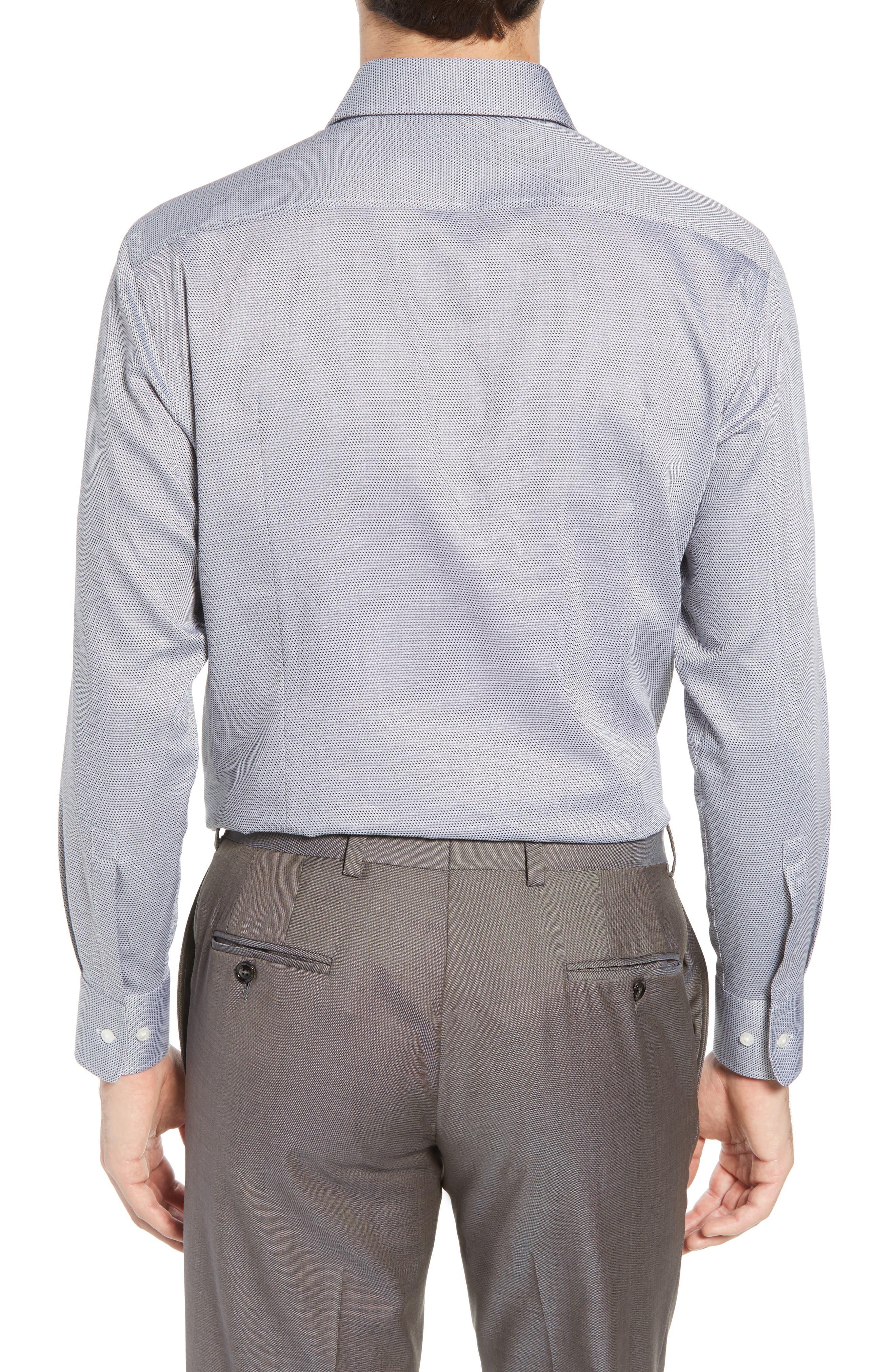 Sharp Fit Dress Shirt,                             Alternate thumbnail 3, color,                             GREY