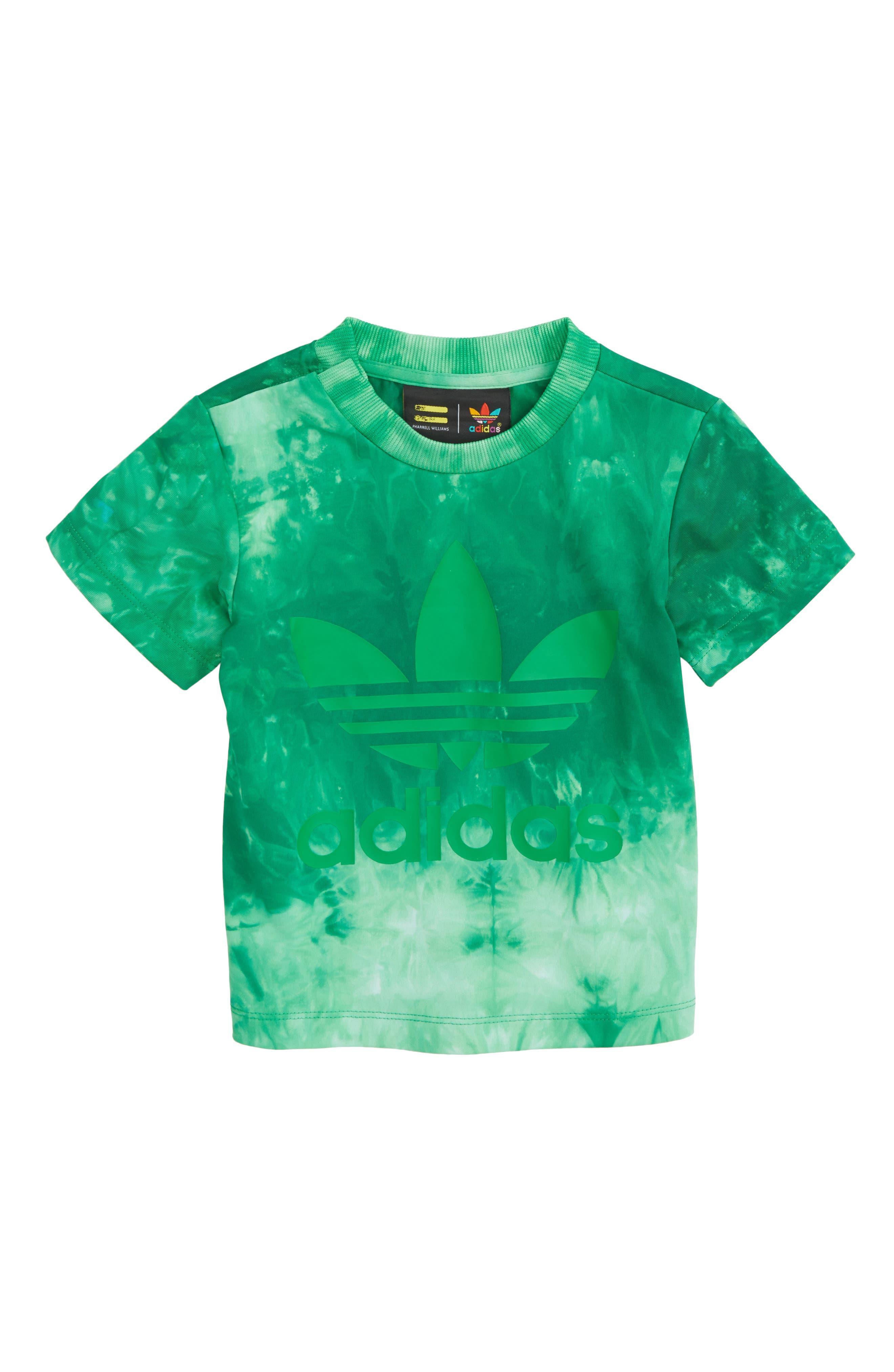 ADIDAS Hu Holi Graphic T-Shirt, Main, color, 360