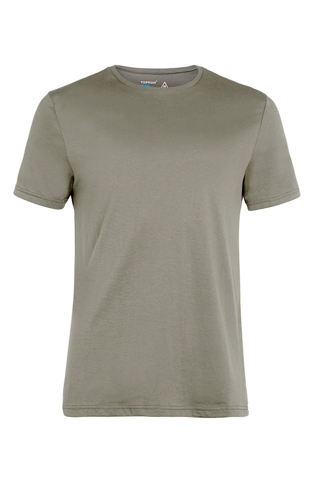 Slim Fit Crewneck T-Shirt,                             Alternate thumbnail 401, color,
