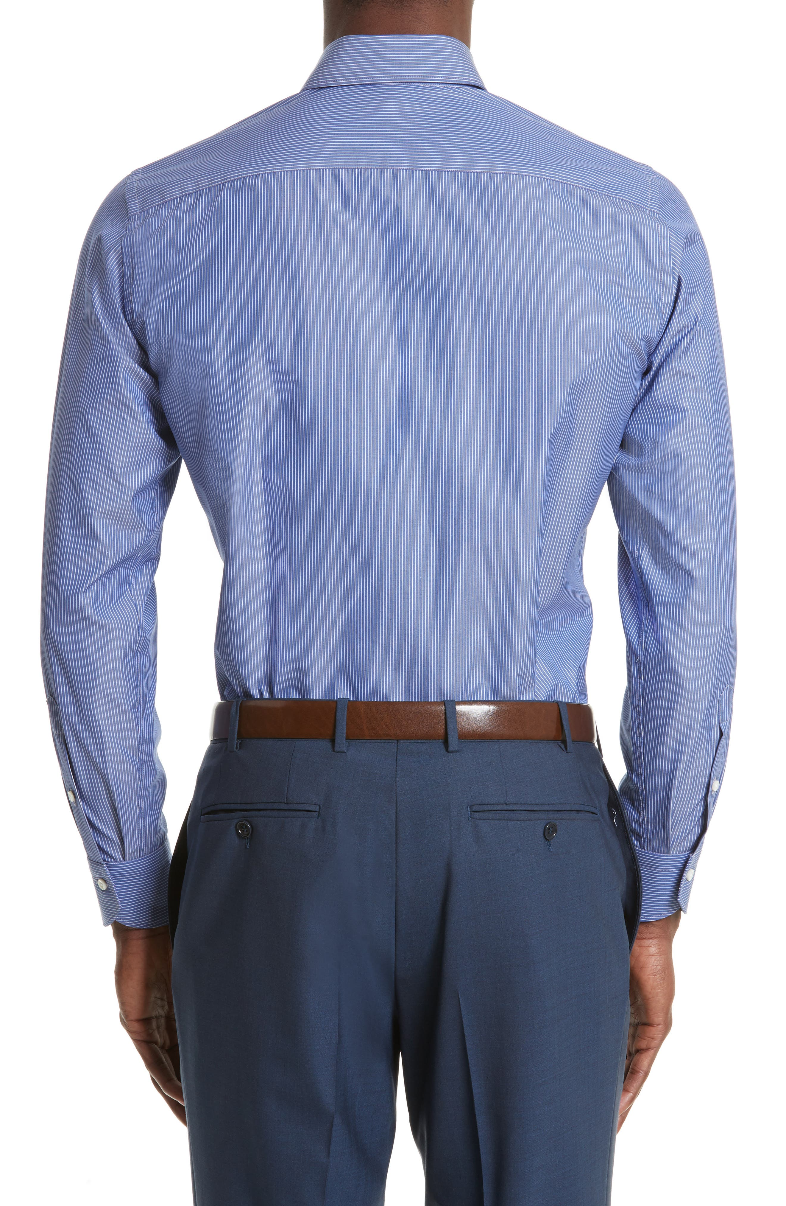 Regular Fit Stripe Dress Shirt,                             Alternate thumbnail 2, color,                             420