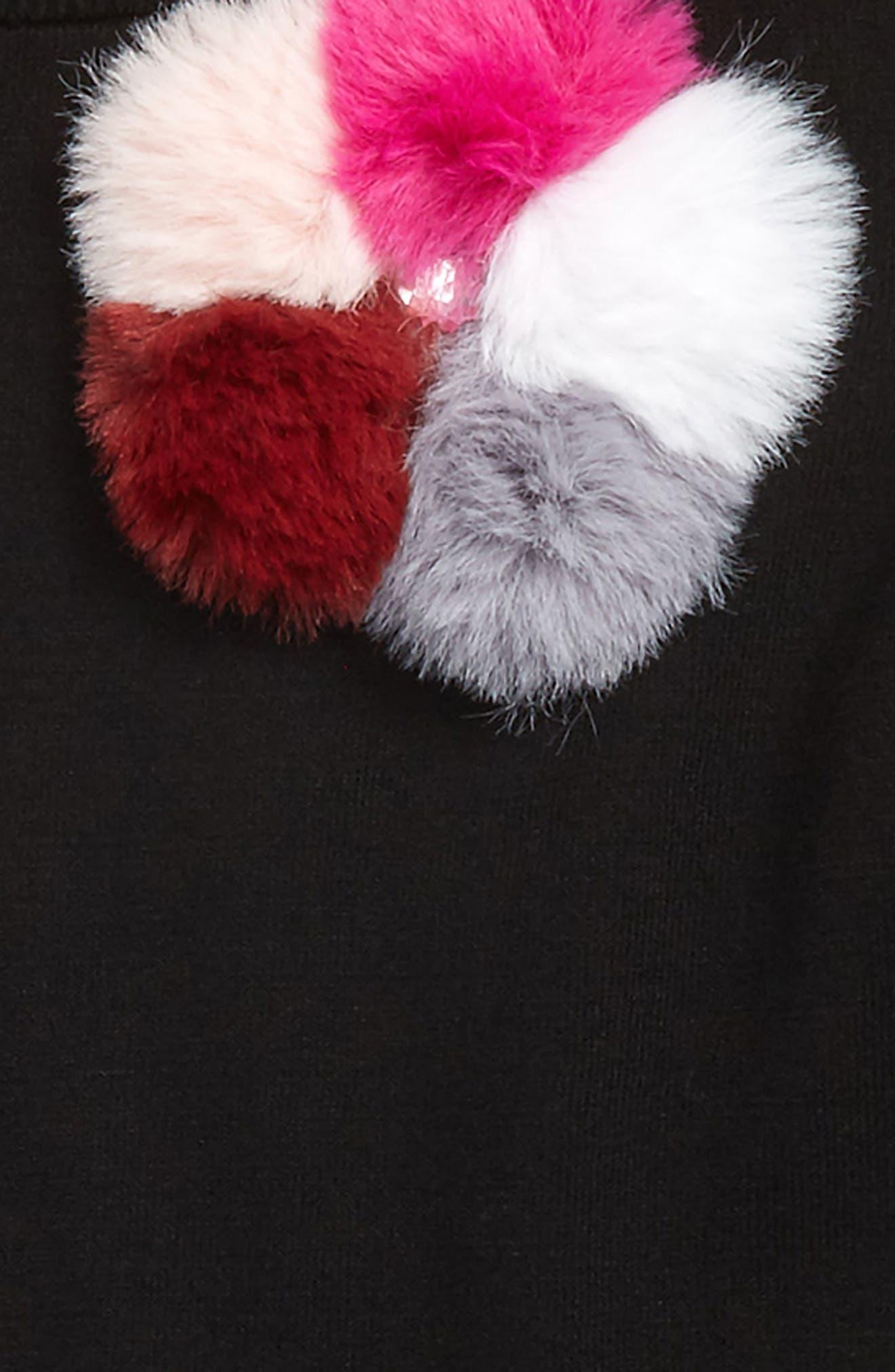 Pompom Embellished Pullover,                             Alternate thumbnail 2, color,                             001