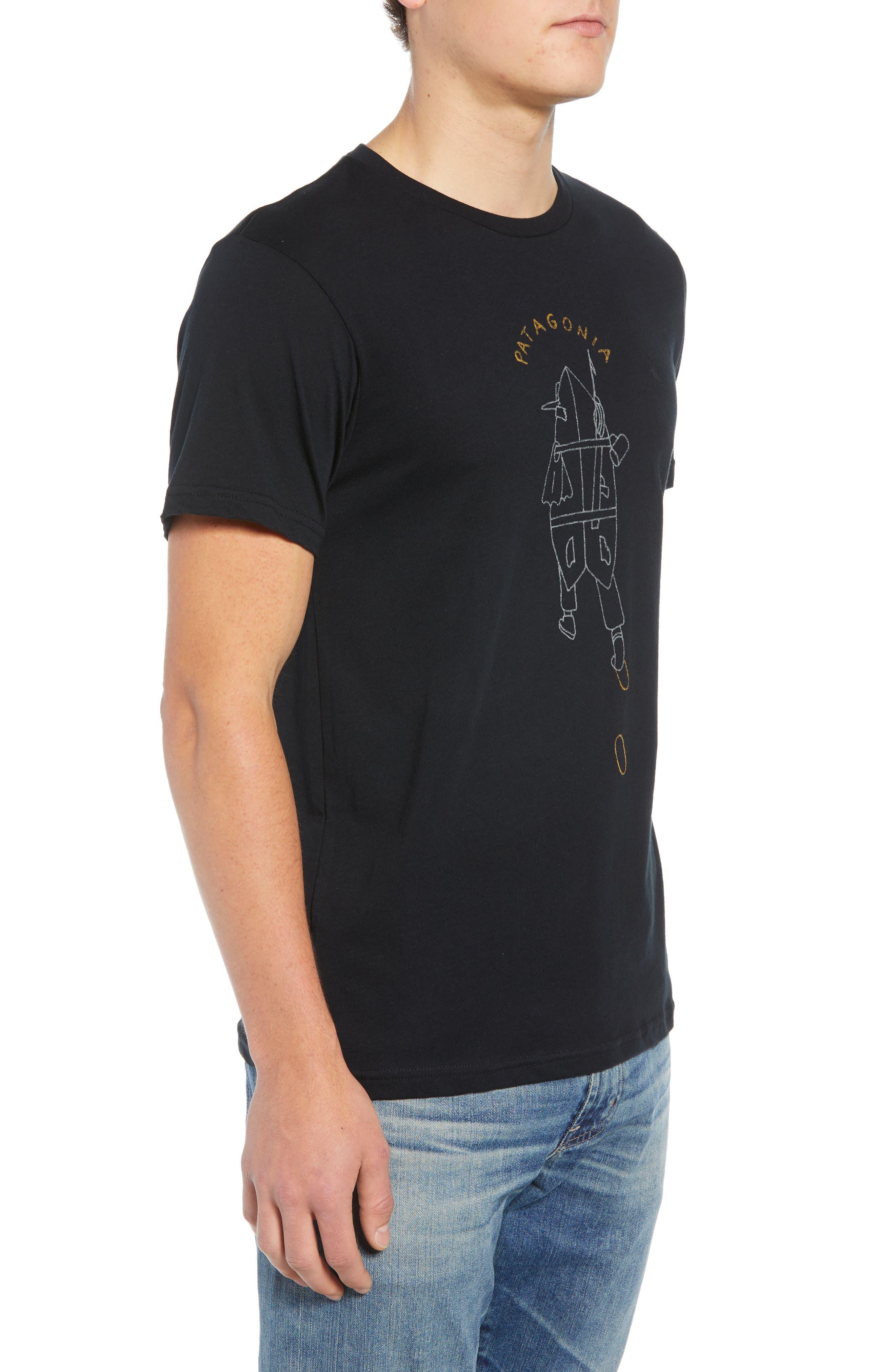 Tube Trekker Organic Cotton T-Shirt,                             Alternate thumbnail 3, color,                             BLACK