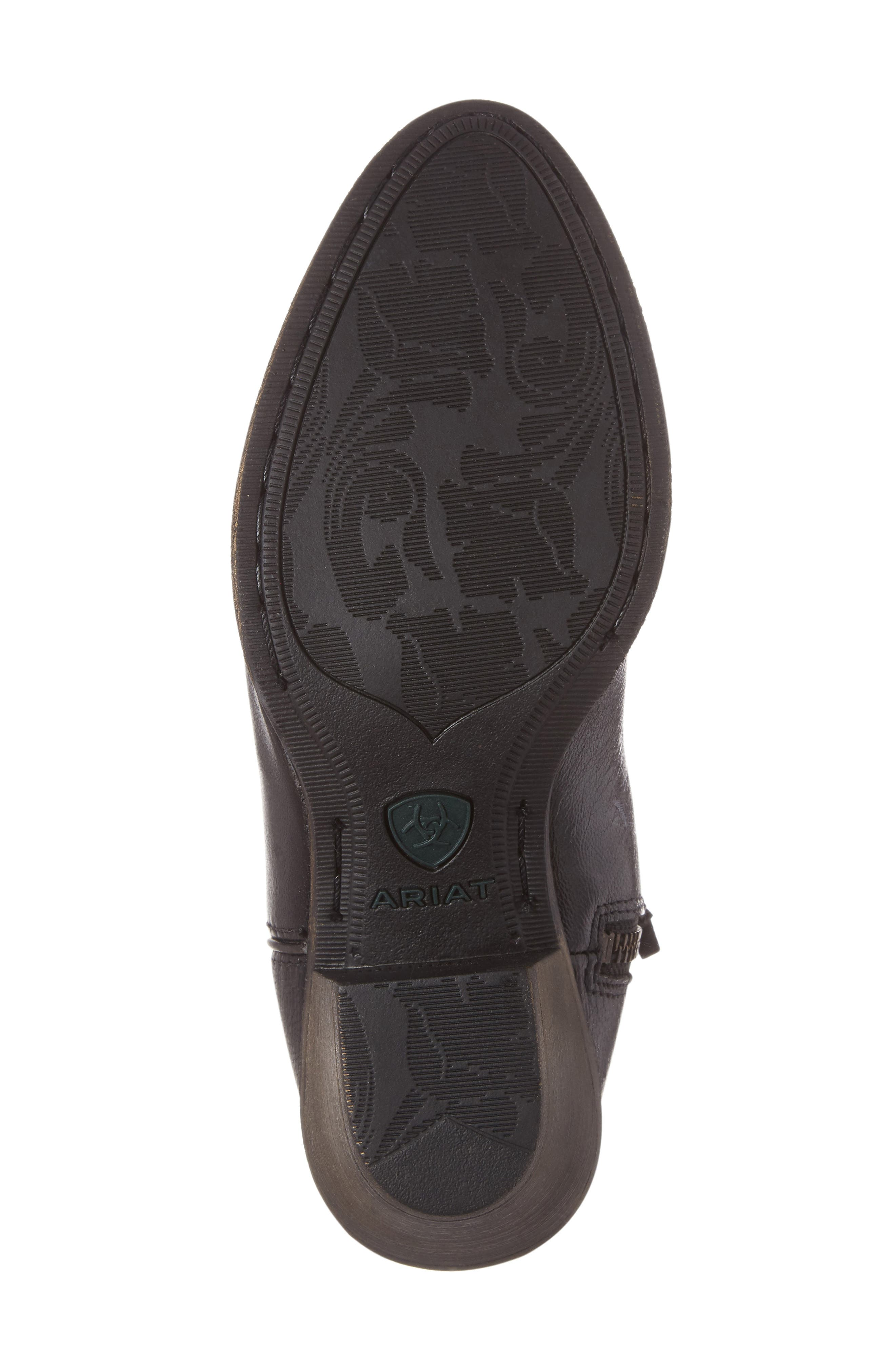 Darlin Short Western Boot,                             Alternate thumbnail 4, color,                             OLD BLACK LEATHER