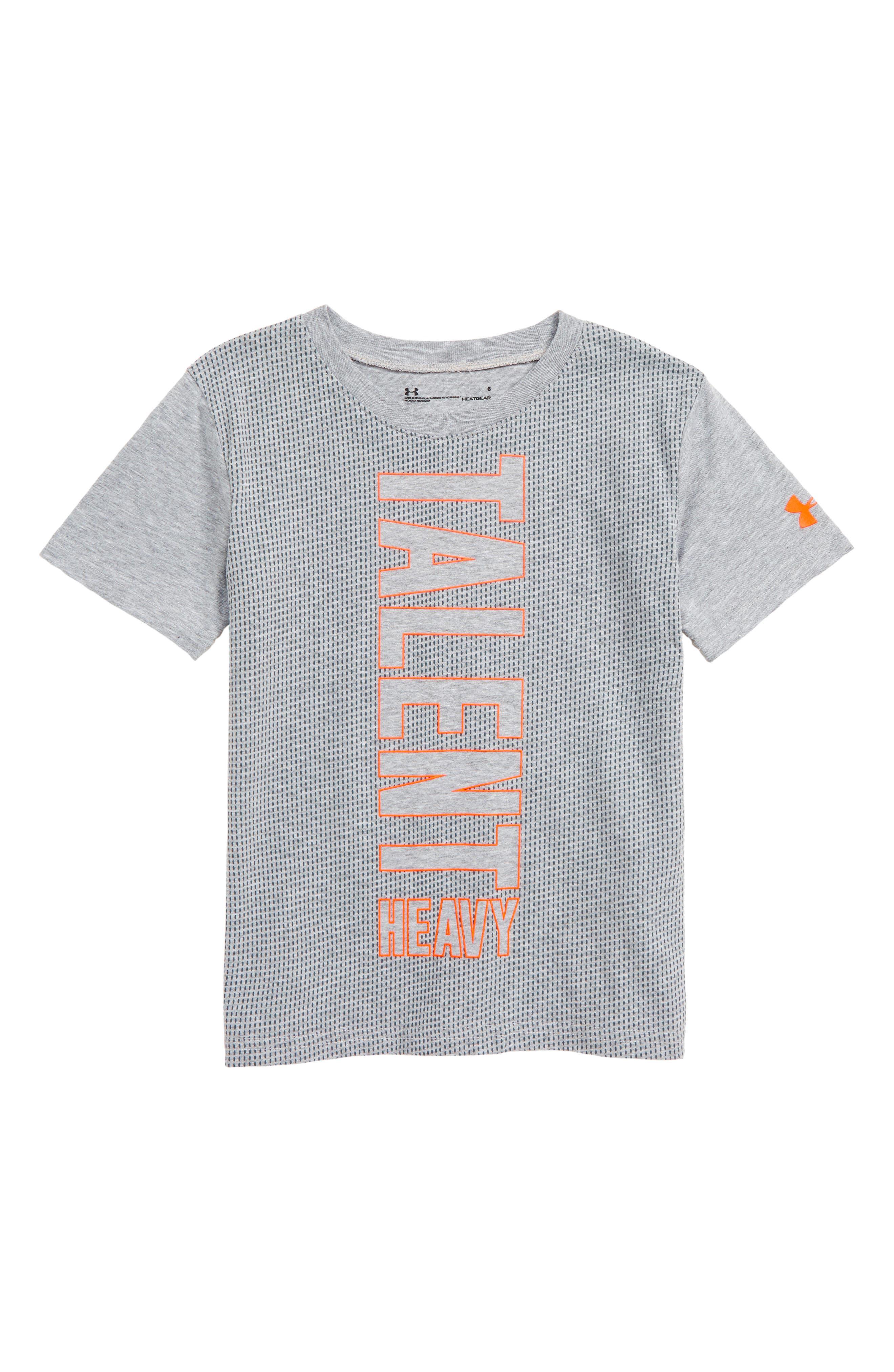 UNDER ARMOUR,                             Talent Heavy Twist HeatGear<sup>®</sup> T-Shirt,                             Main thumbnail 1, color,                             MOD GRAY