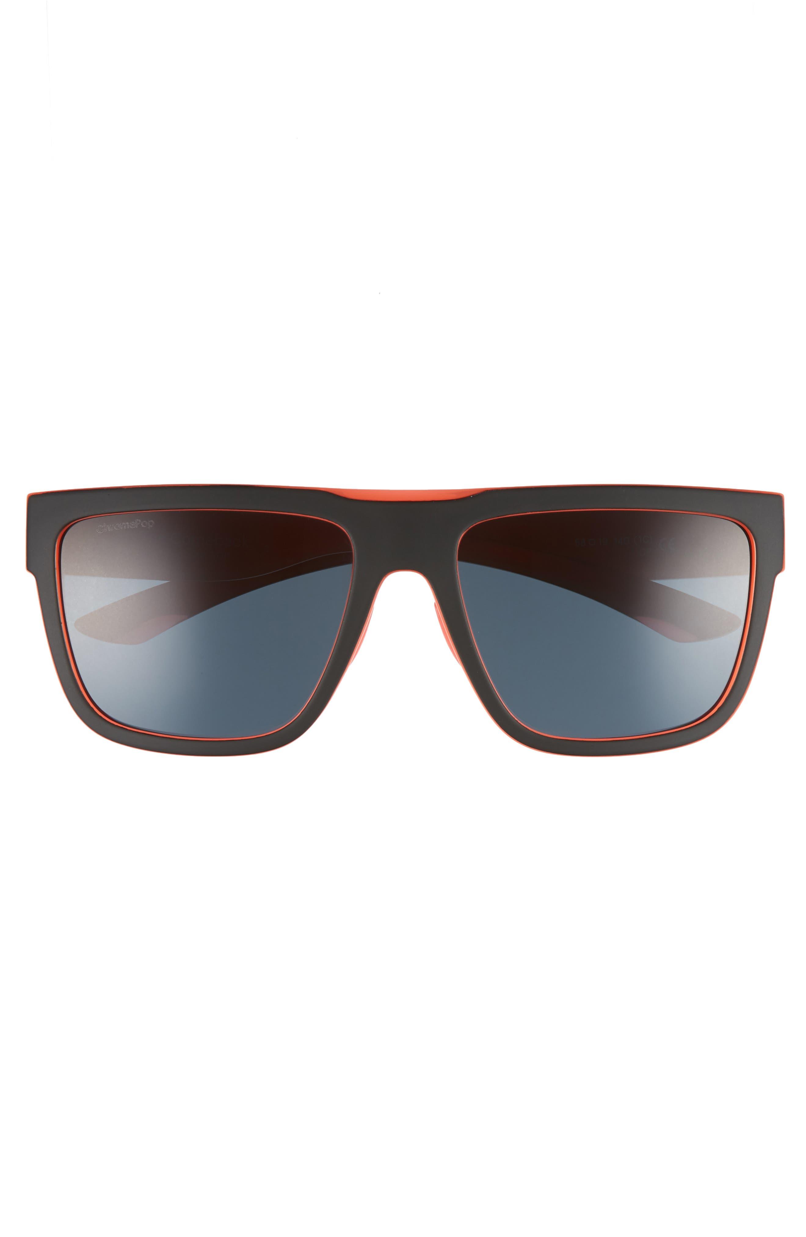 The Comeback 58mm ChromaPop<sup>™</sup> Square Sunglasses,                             Alternate thumbnail 3, color,                             BLACK/ SUNBURST