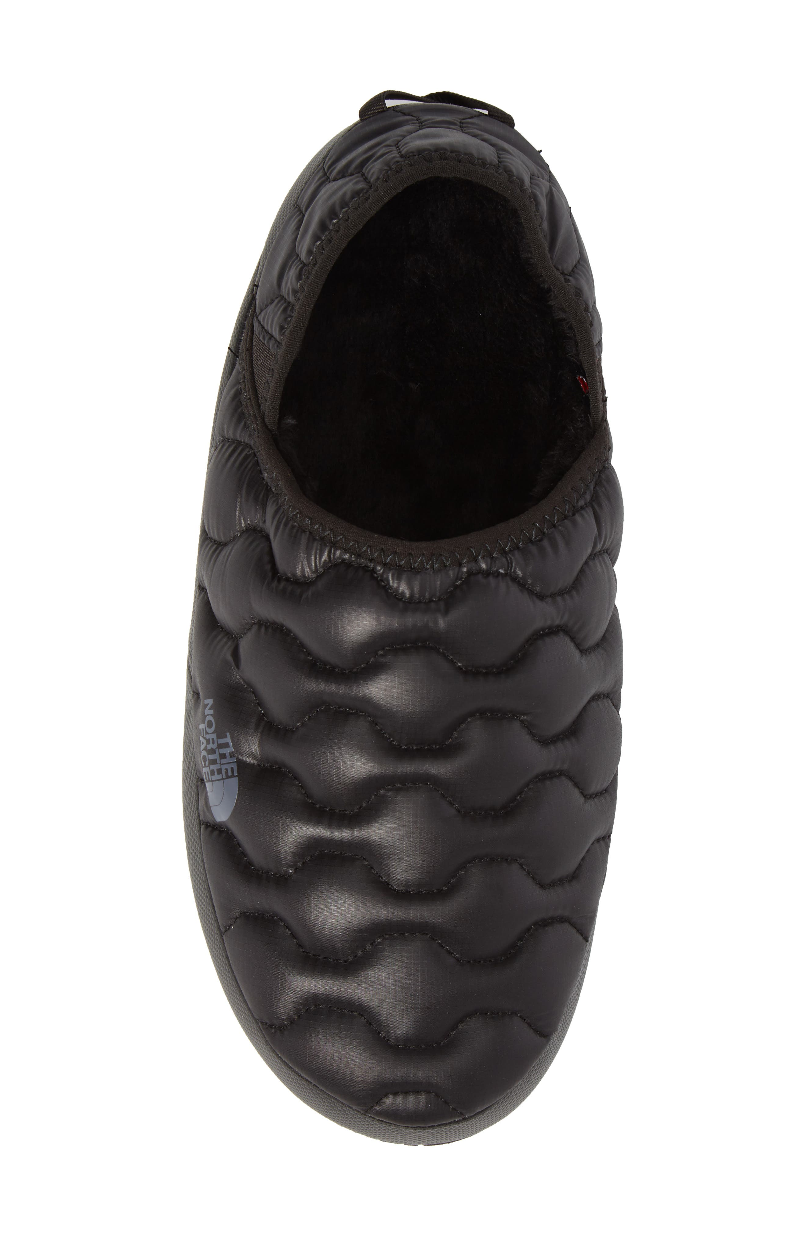 ThermoBall<sup>™</sup> Water-Resistant Traction slipper,                             Alternate thumbnail 5, color,                             SHINY BLACK/ DARK GREY
