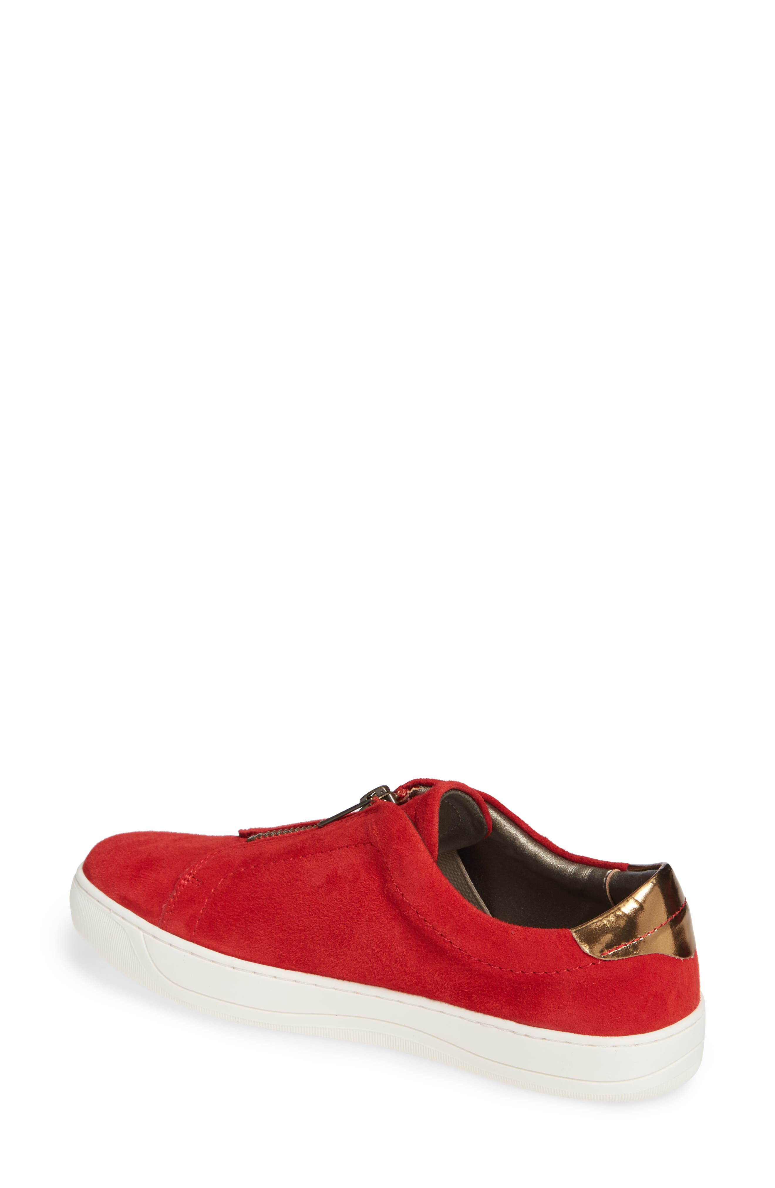 Emma Sneaker,                             Alternate thumbnail 2, color,                             RED SUEDE