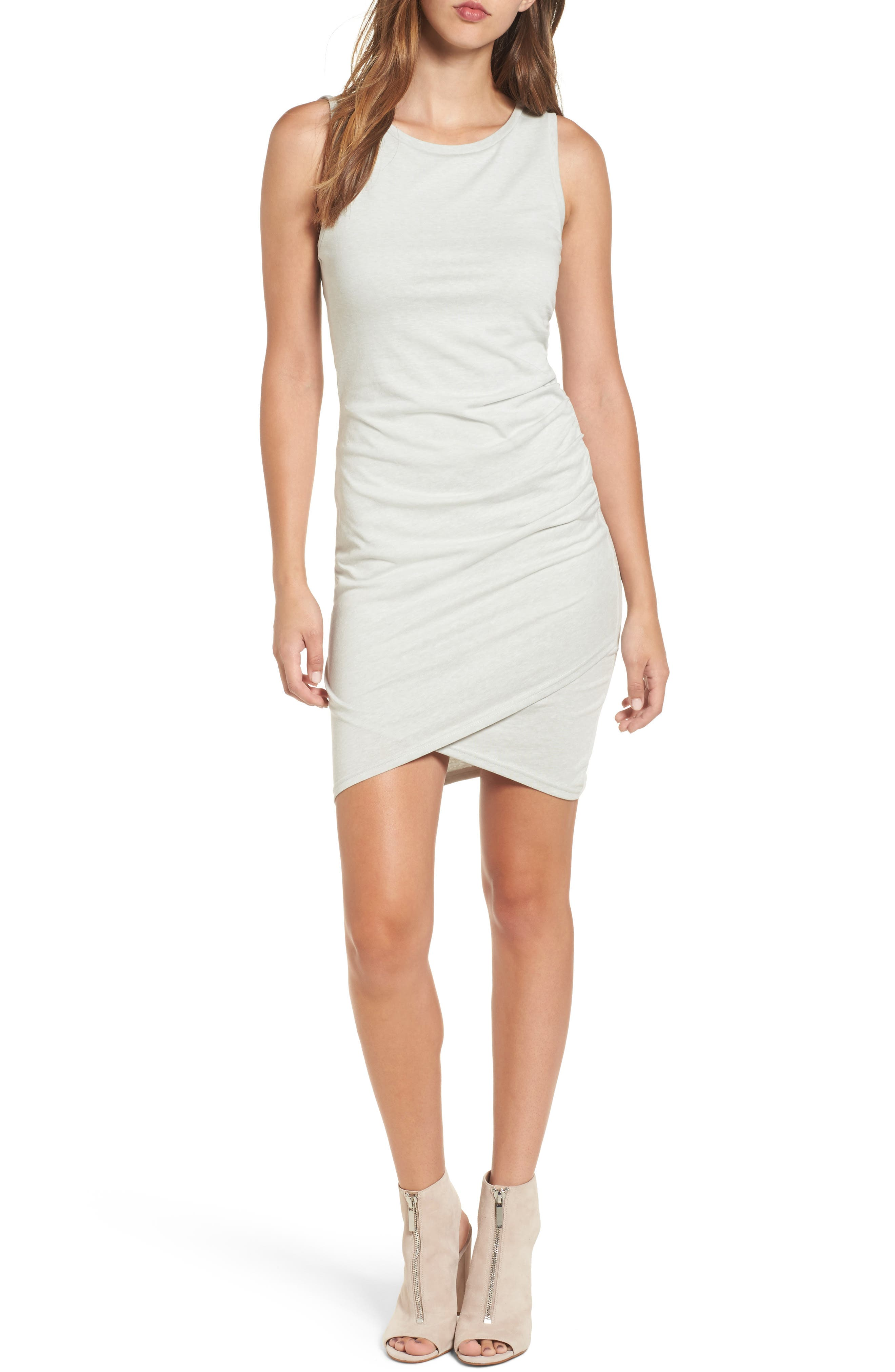 Ruched Body-Con Tank Dress,                             Main thumbnail 4, color,