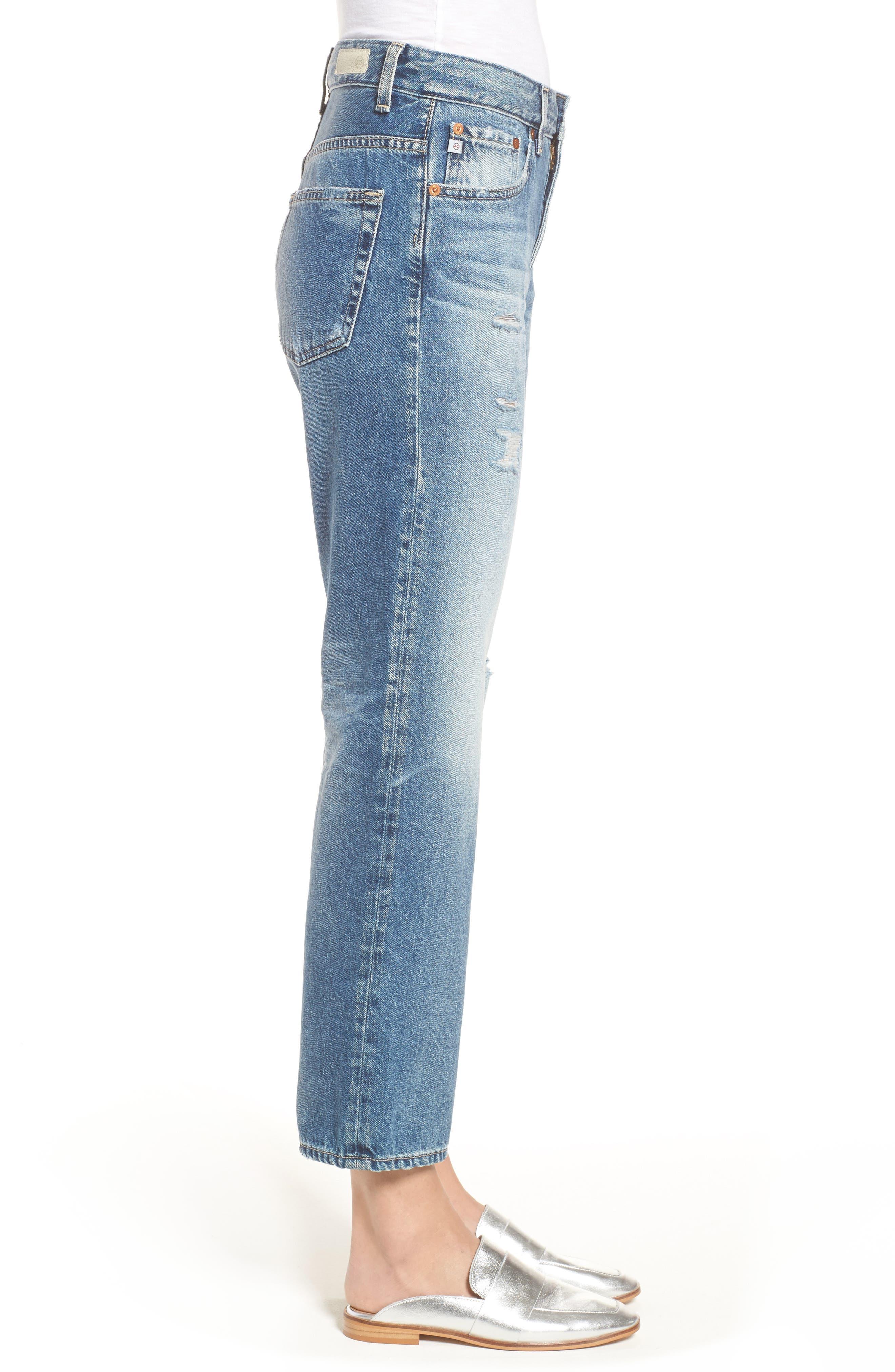 The Rhett Vintage High Waist Crop Jeans,                             Alternate thumbnail 10, color,