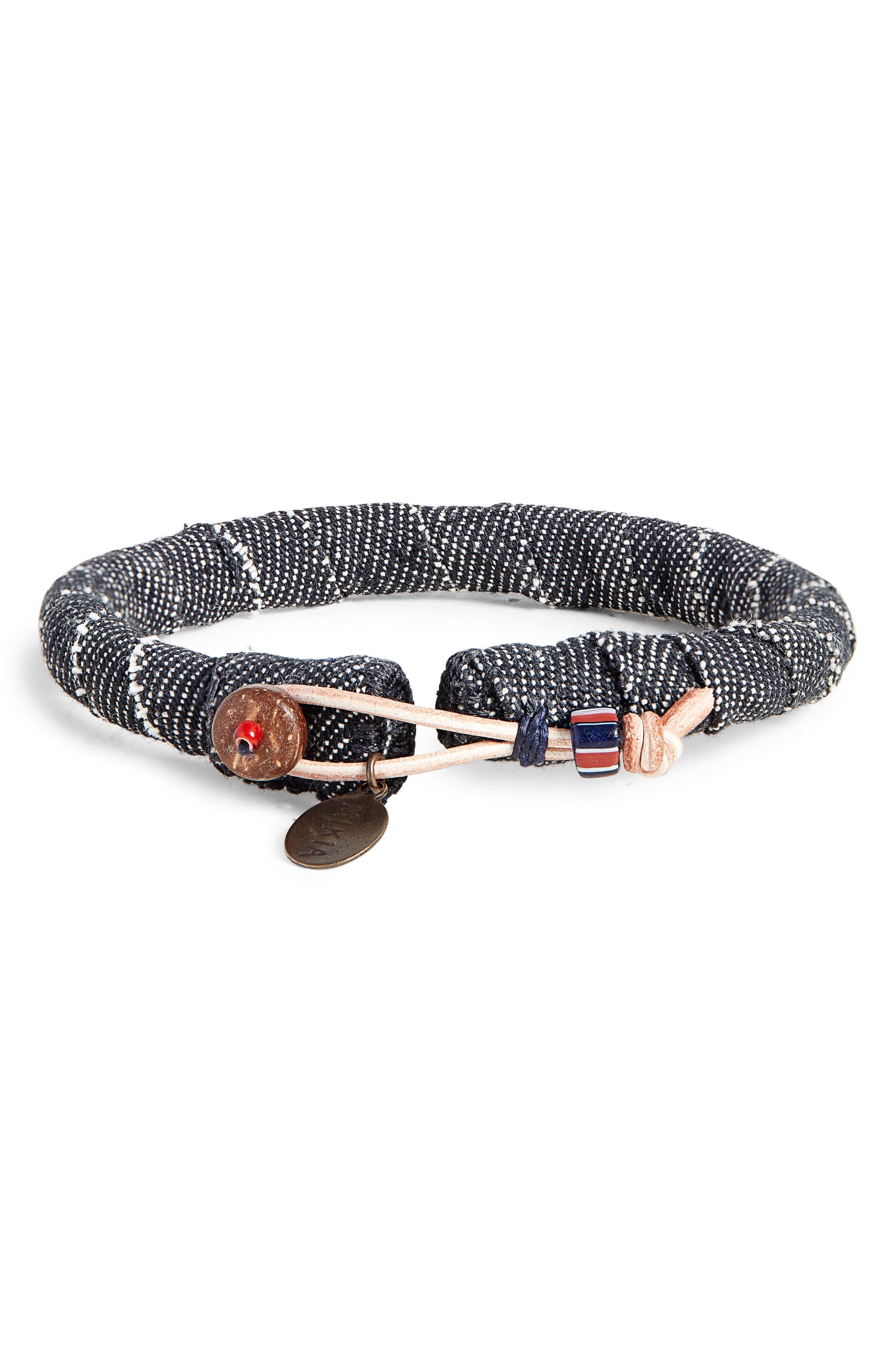 Denim Bracelet,                             Main thumbnail 1, color,                             BLACK DENIM