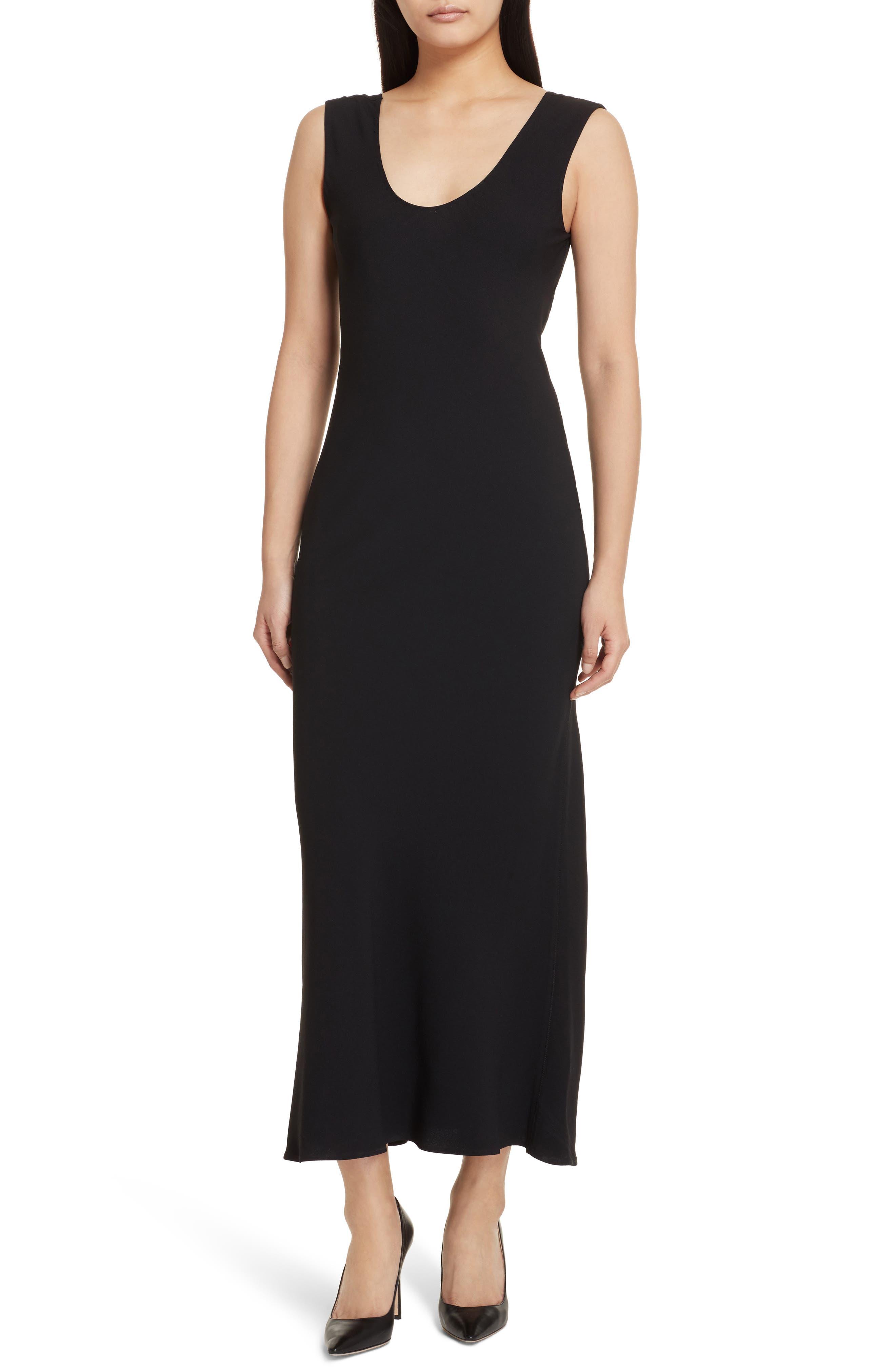 Cowl Back Midi Dress,                         Main,                         color, 001